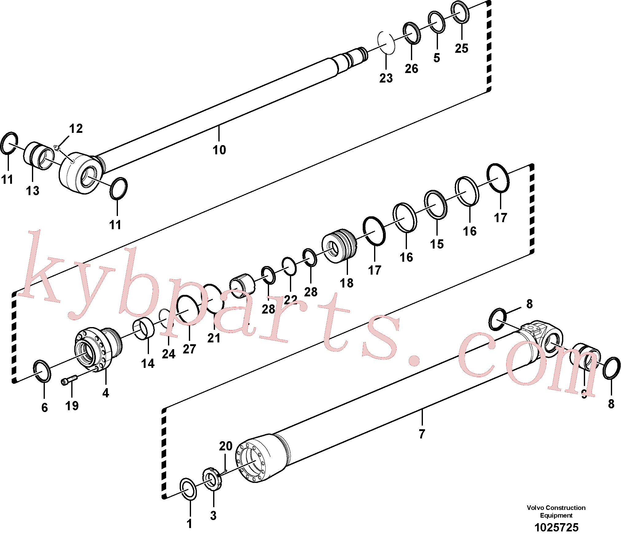 VOE14570905 for Volvo Bucket cylinder(1025725 assembly)