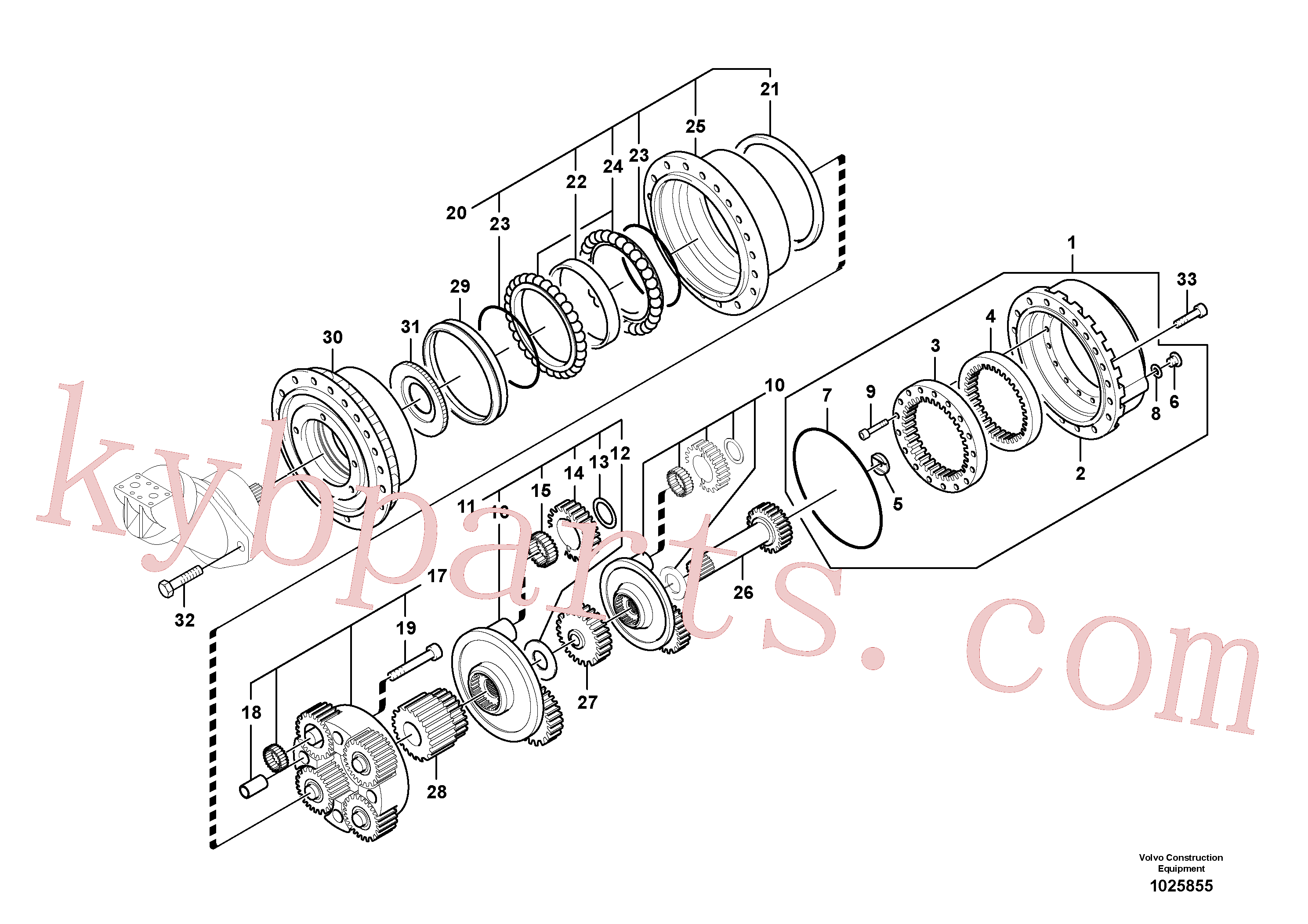 SA8230-35430 for Volvo Travel gearbox(1025855 assembly)