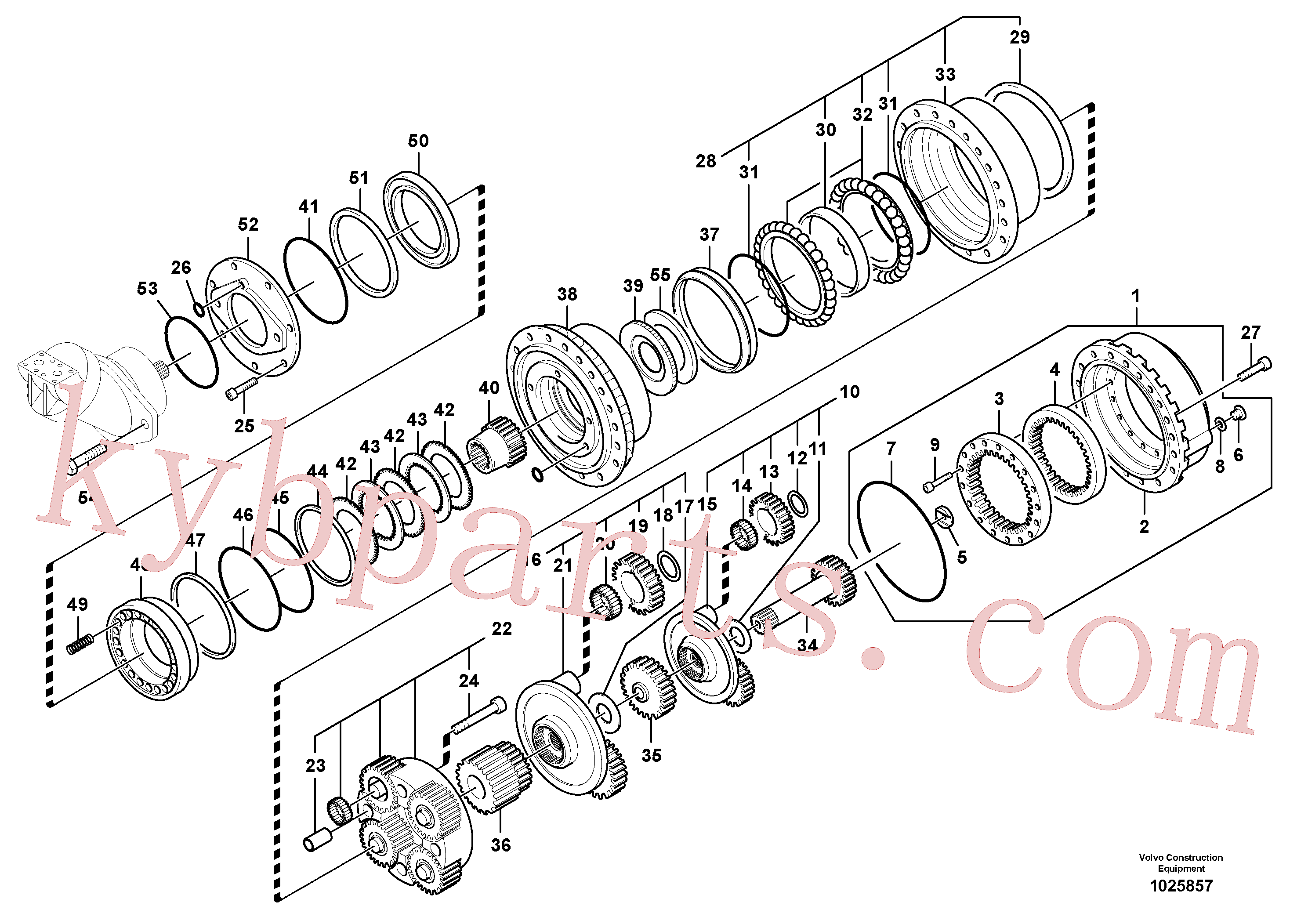 SA8230-35430 for Volvo Travel gearbox(1025857 assembly)