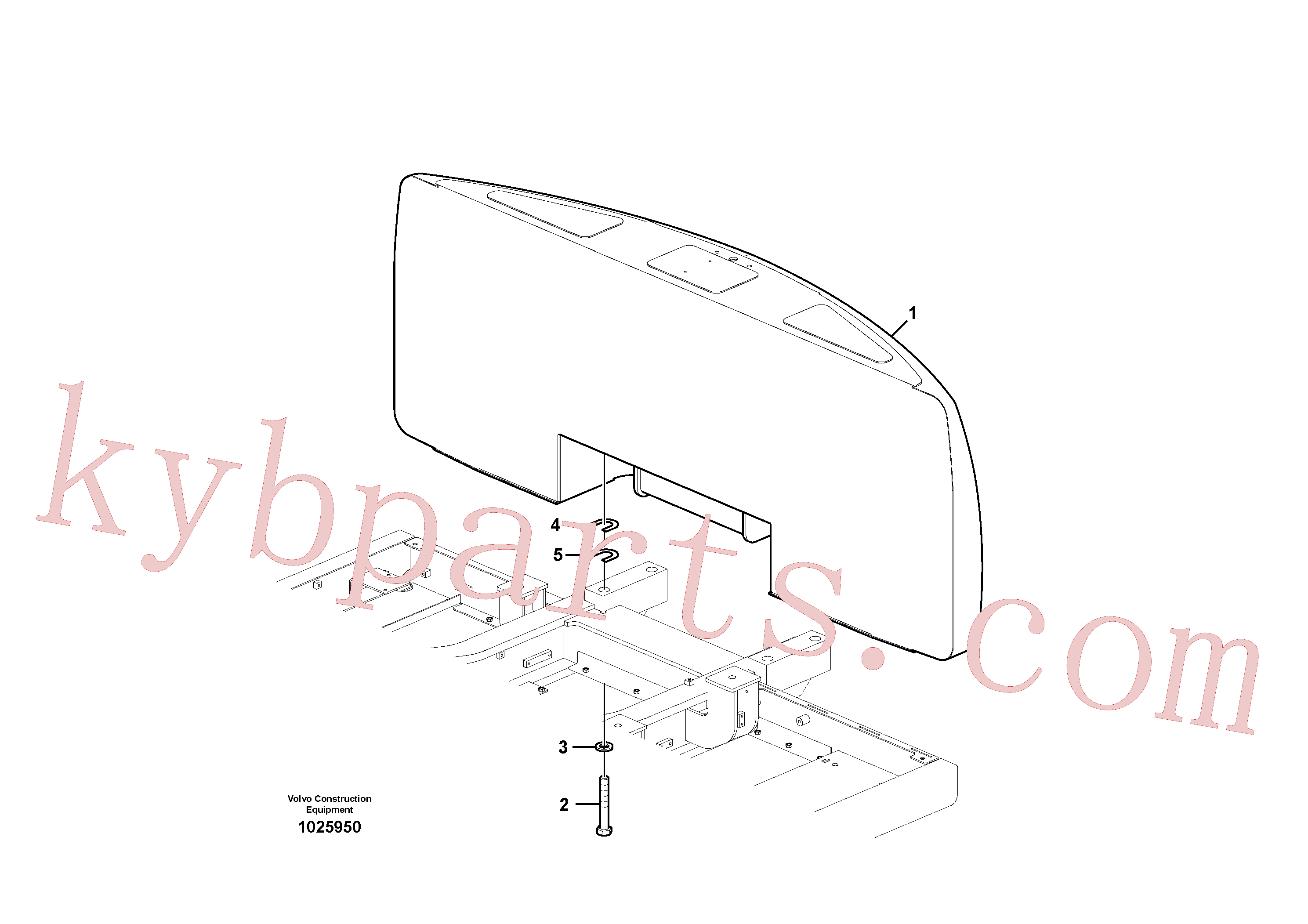 SA9011-23028 for Volvo Counterweights(1025950 assembly)