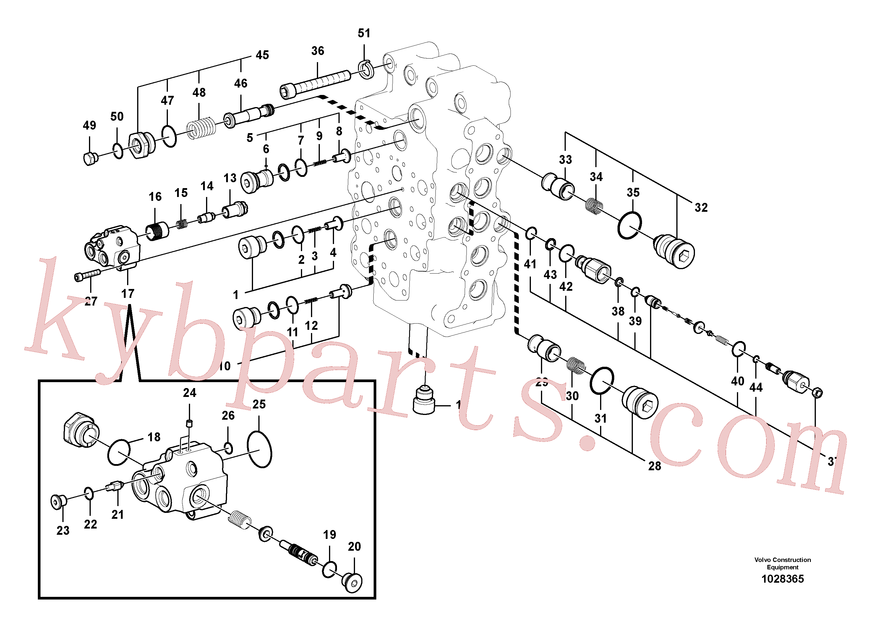 VOE14513395 for Volvo Main control valve(1028365 assembly)