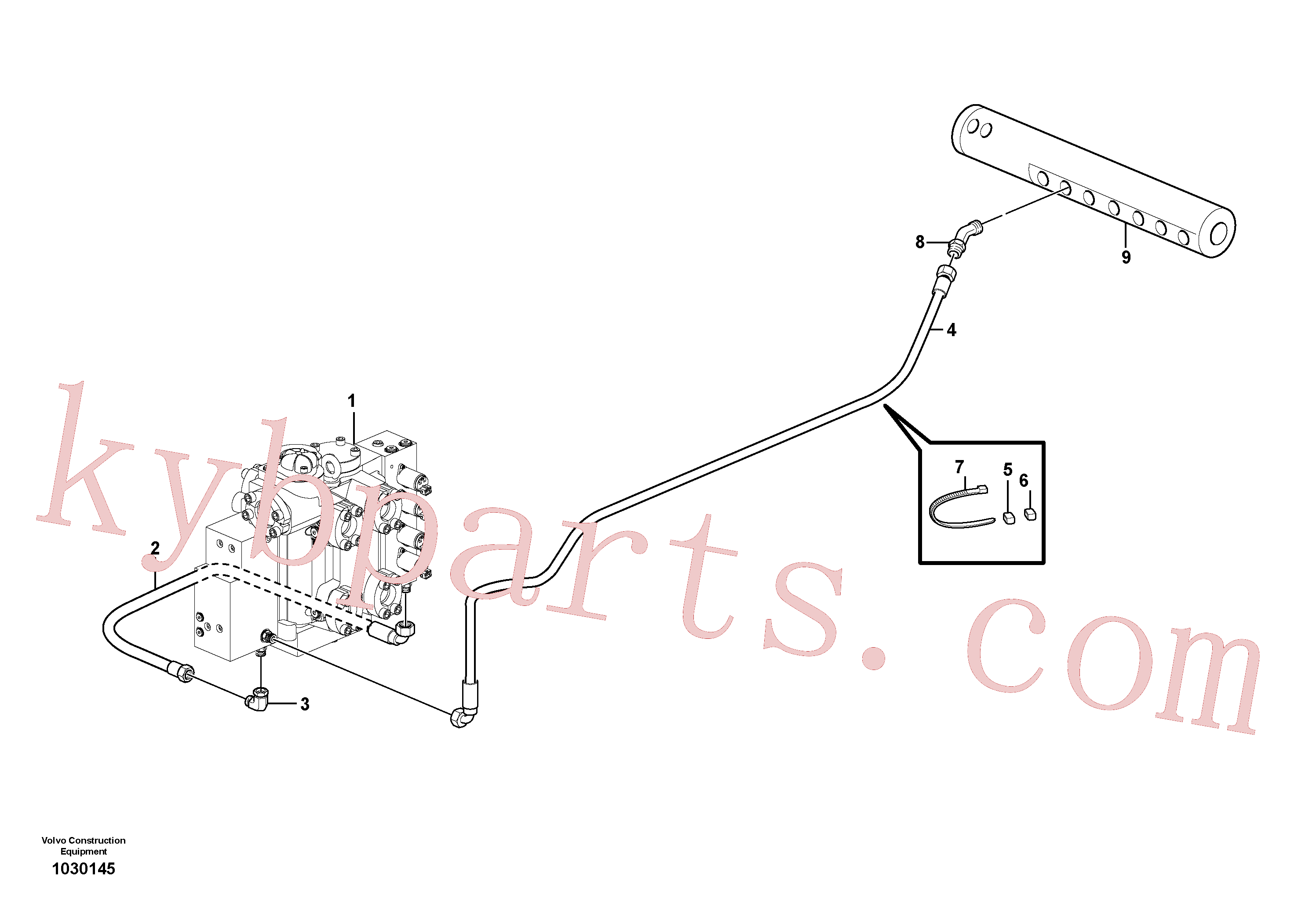 VOE11884787 for Volvo Draining line - control valve(1030145 assembly)