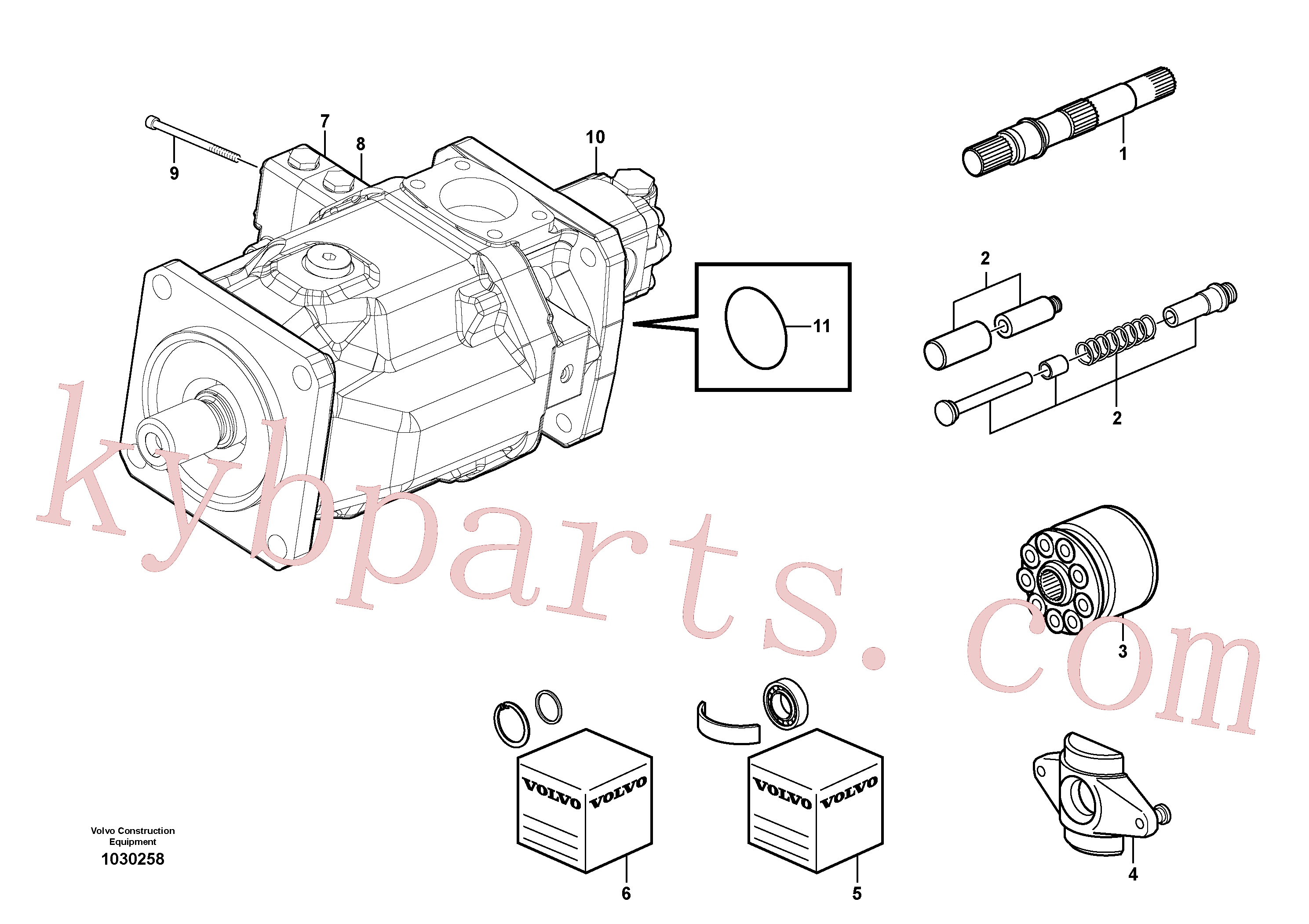 PJ7411728 for Volvo Hydraulic pump(1030258 assembly)