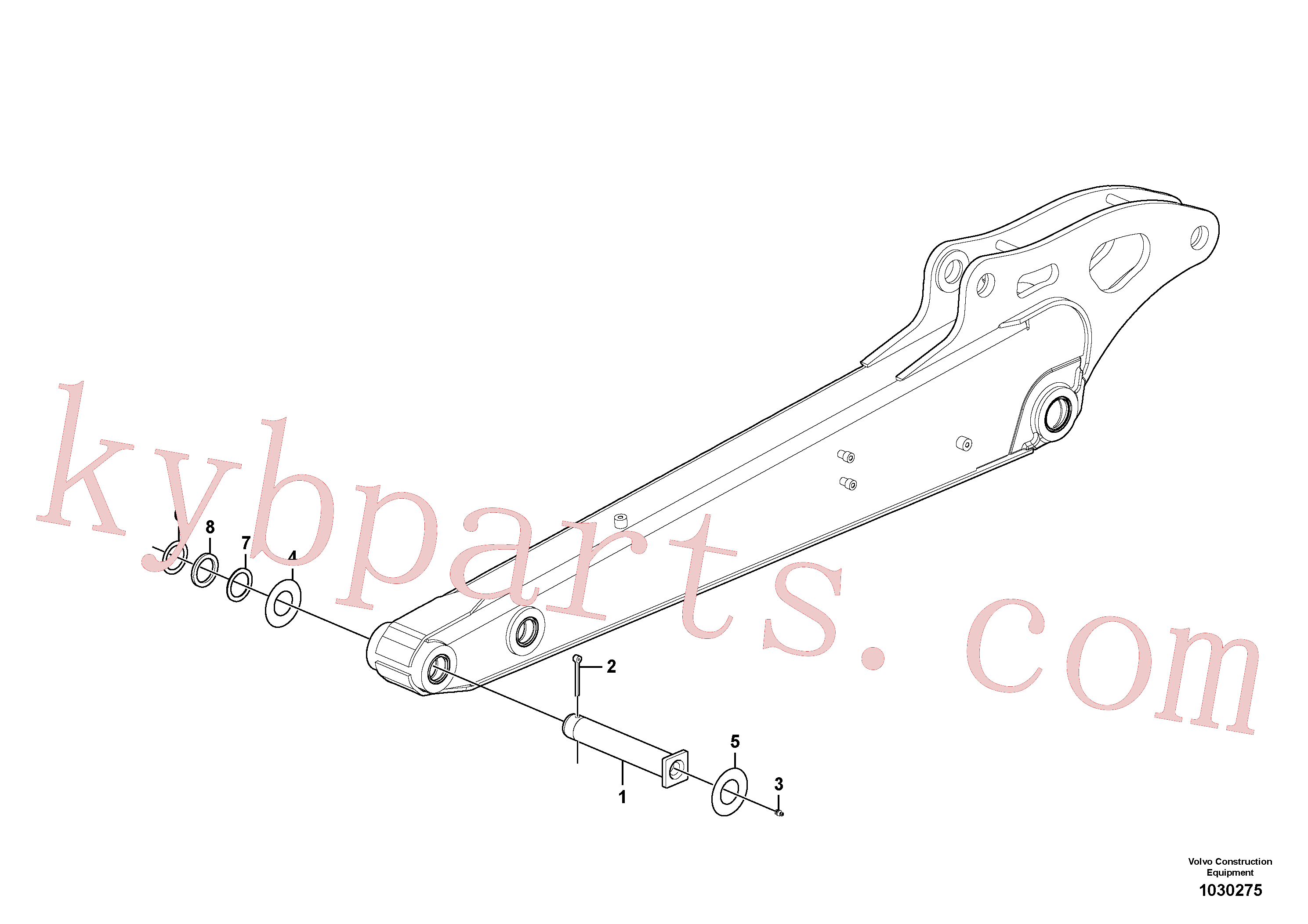 VOE11802089 for Volvo Dipper arm(1030275 assembly)