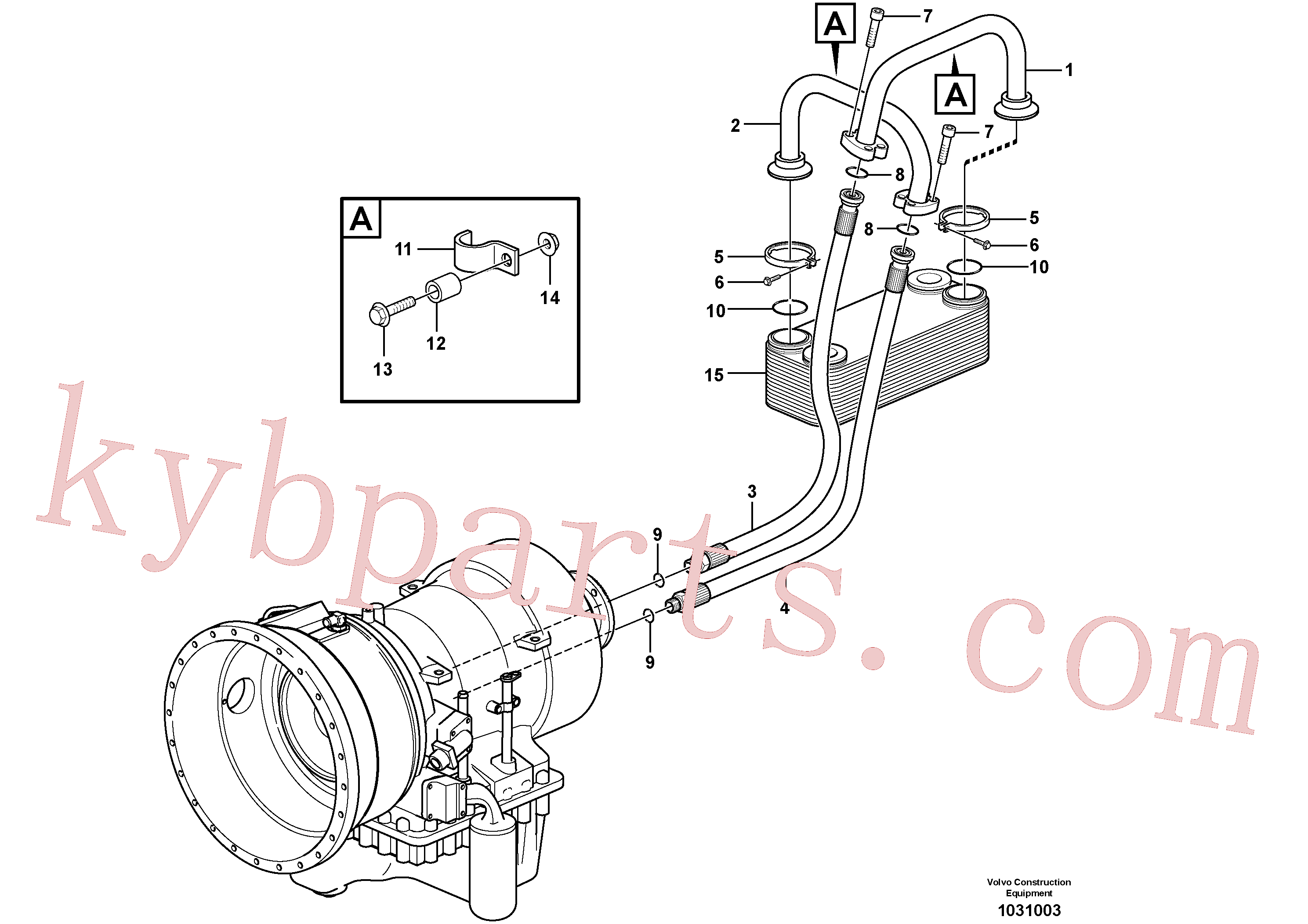VOE1542778 for Volvo Oil cooler(1031003 assembly)