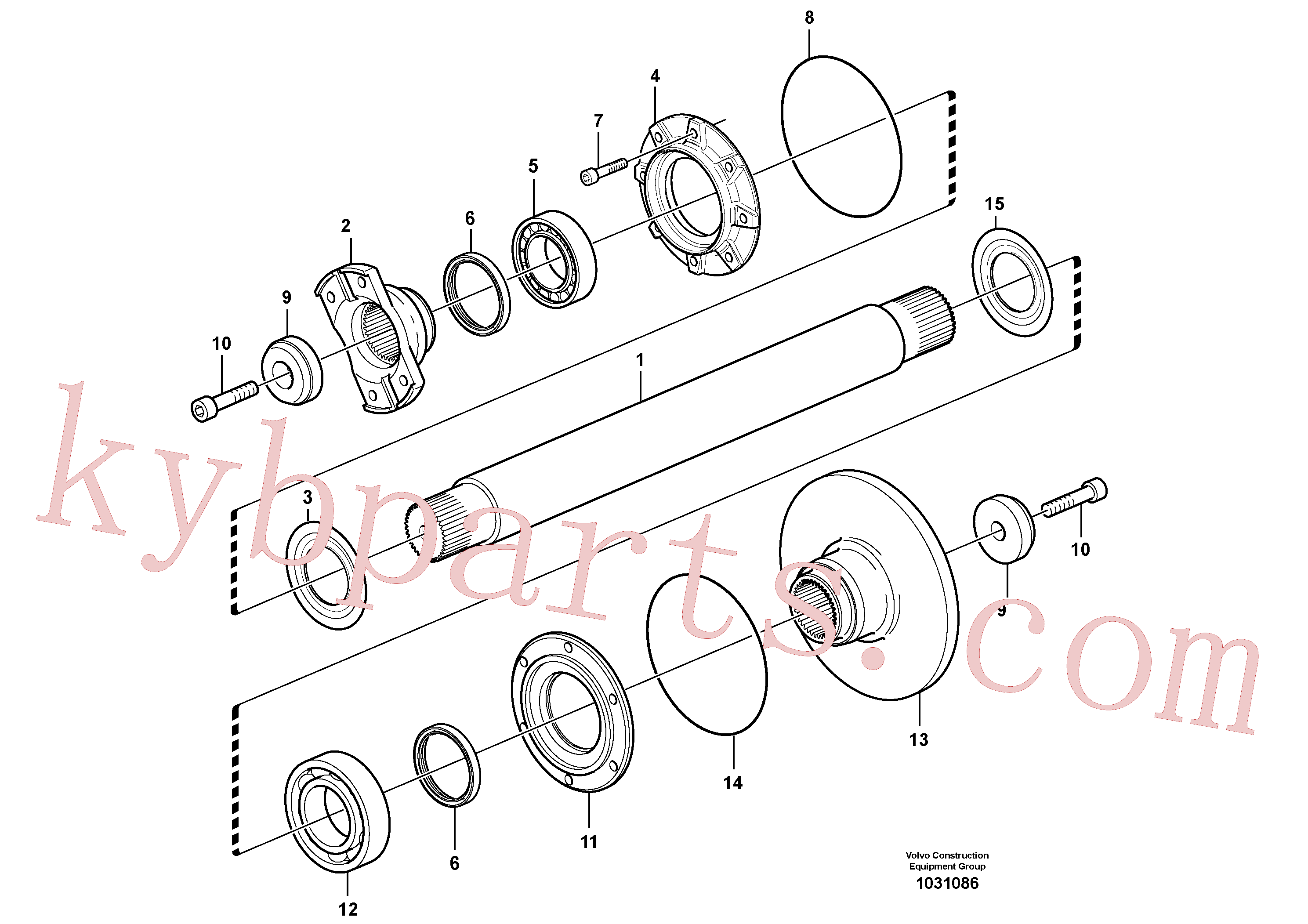 VOE11190761 for Volvo Intermediate shaft(1031086 assembly)
