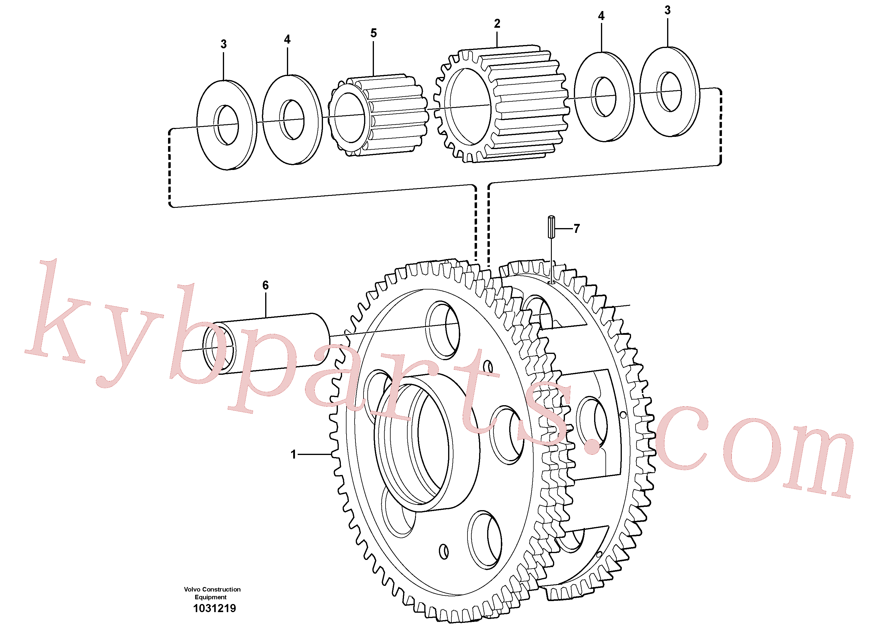 VOE11036759 for Volvo Planet kit, stage 3(1031219 assembly)