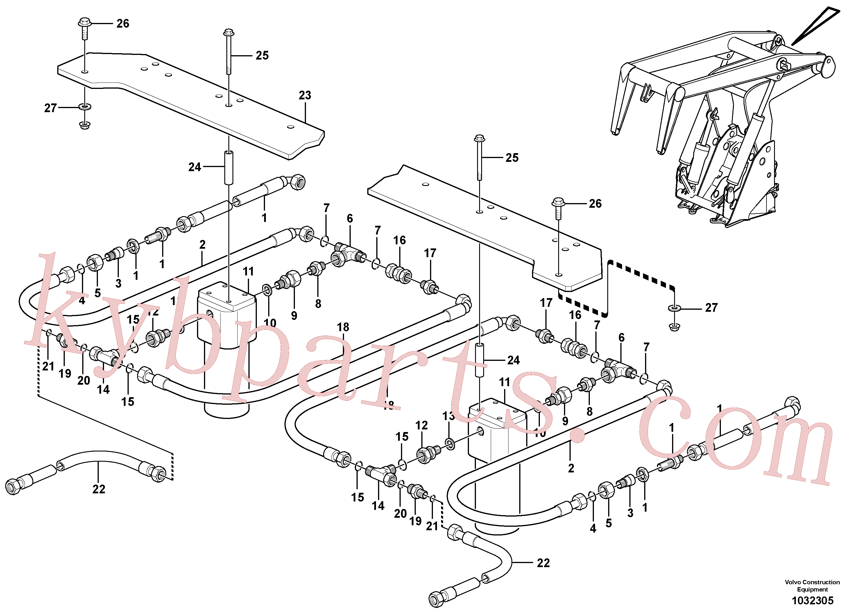 VOE935340 for Volvo Working hydraulics, lift arm(1032305 assembly)