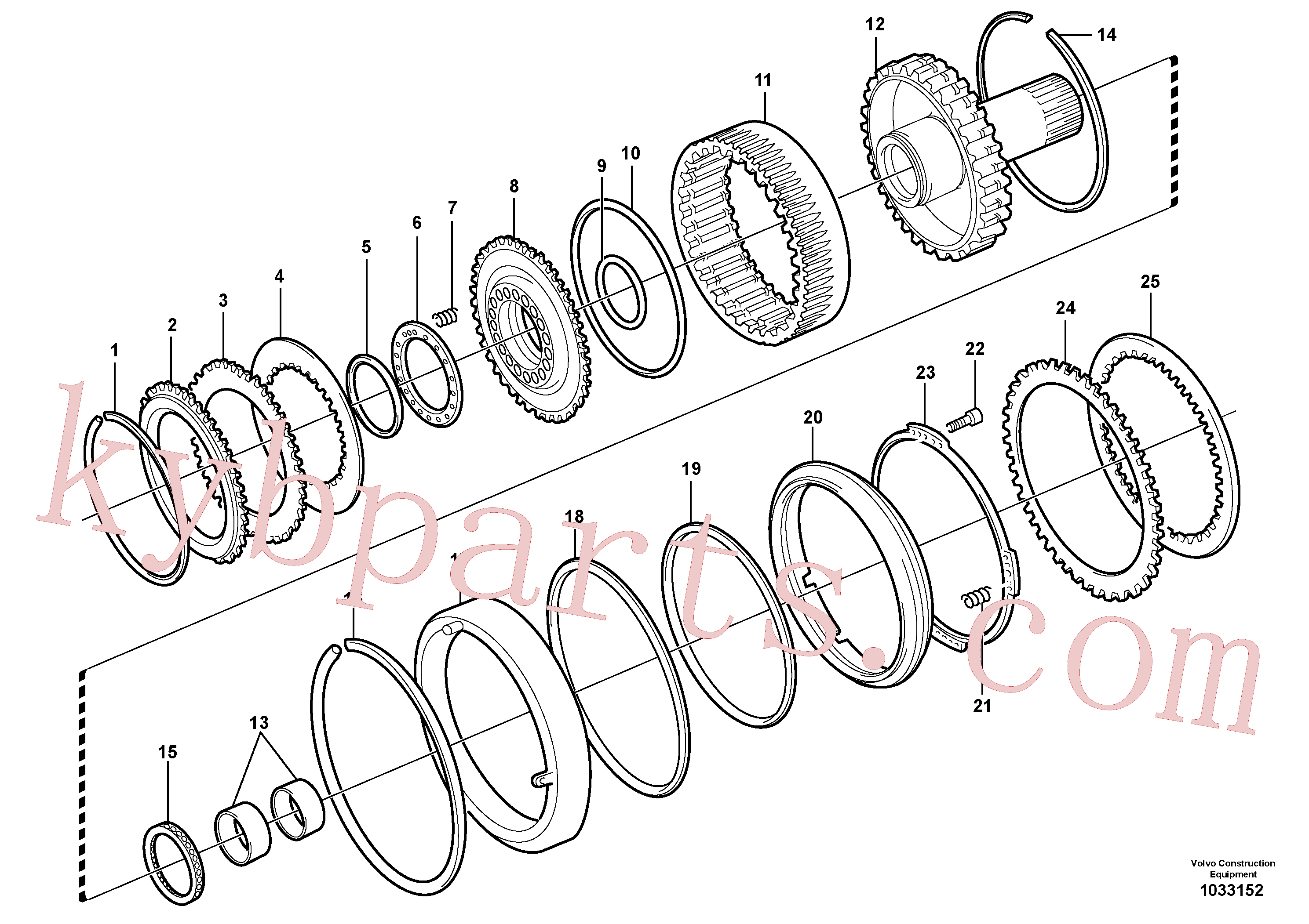 VOE11989805 for Volvo Clutch and brake(1033152 assembly)