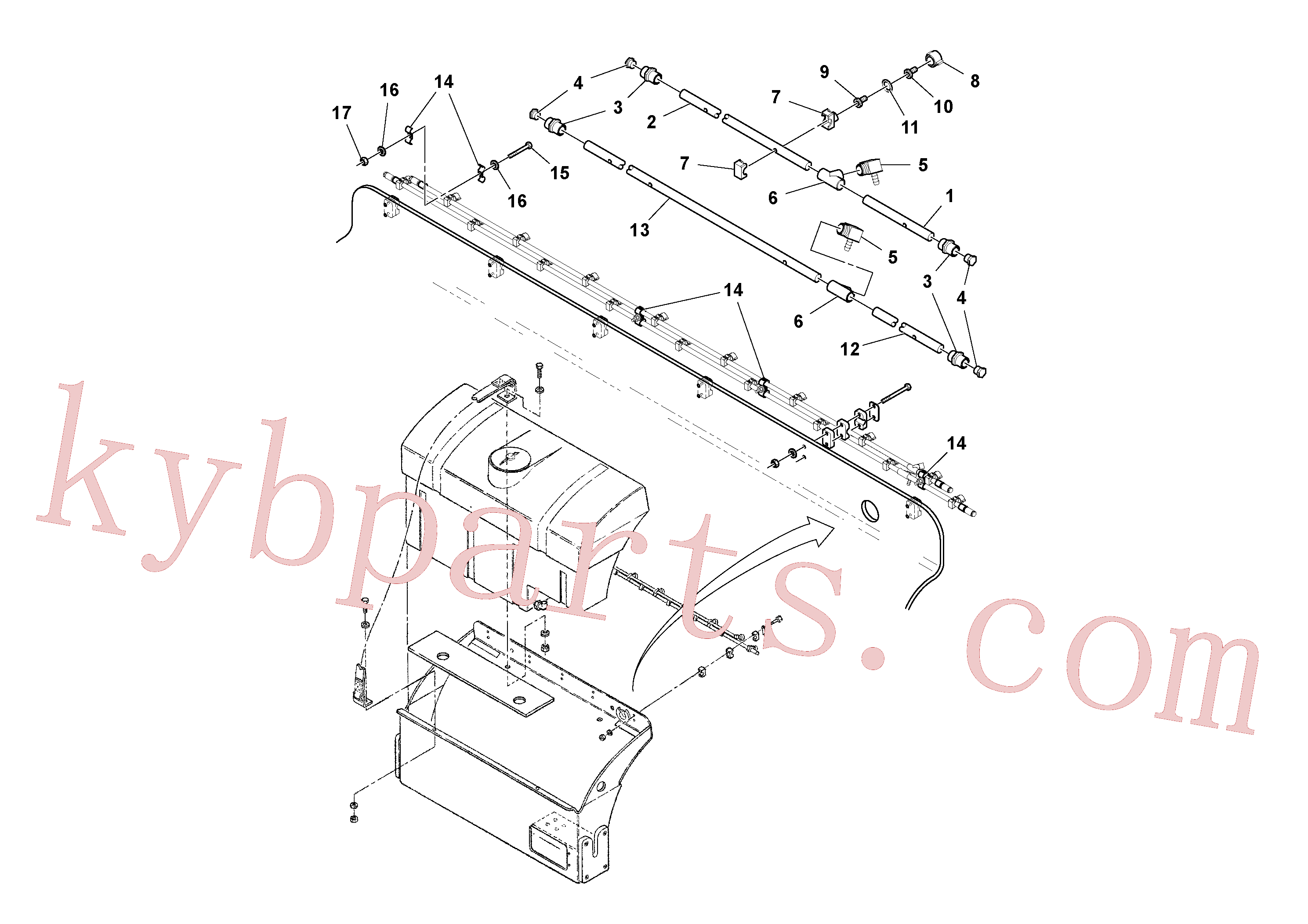 RM96719729 for Volvo Spray Bar Assembly(1036637 assembly)