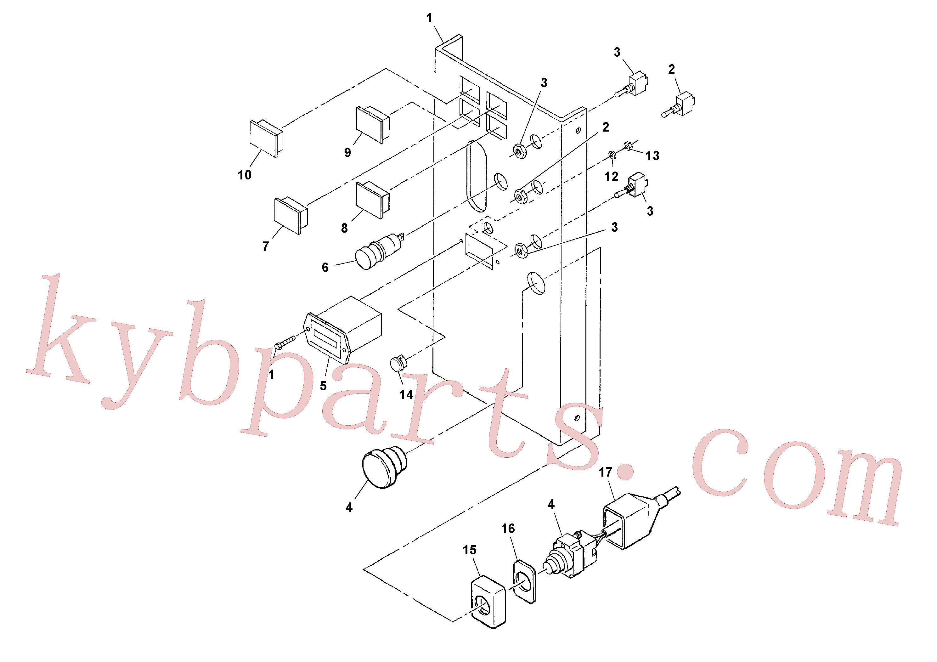 RM43910579 for Volvo Control Panel Assembly(1037097 assembly)