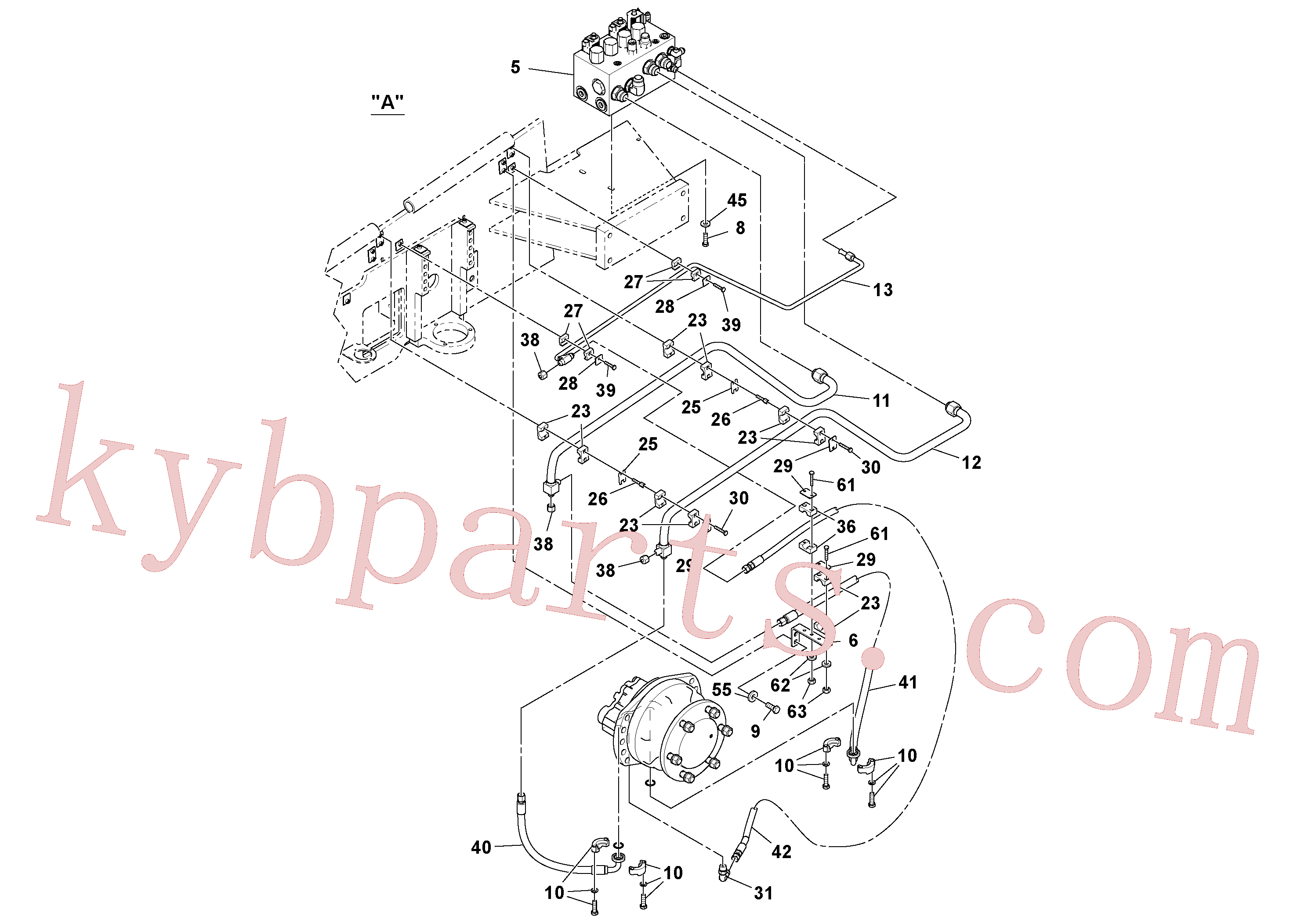 VOE955893 for Volvo Fwa Hydraulic Installation(1038471 assembly)