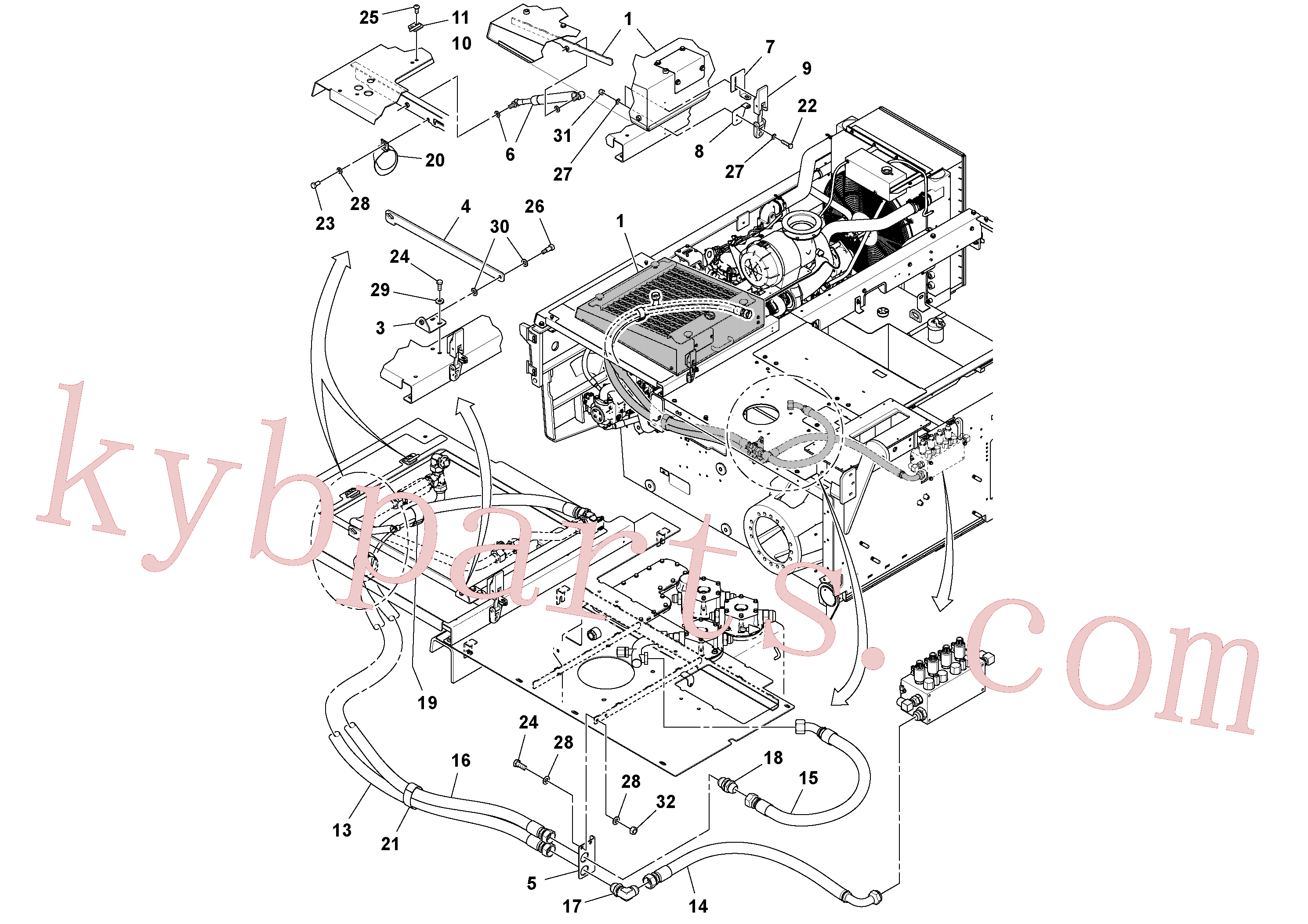 RM96702865 for Volvo Auxiliary Hydraulic Cooler Installation(1038646 assembly)