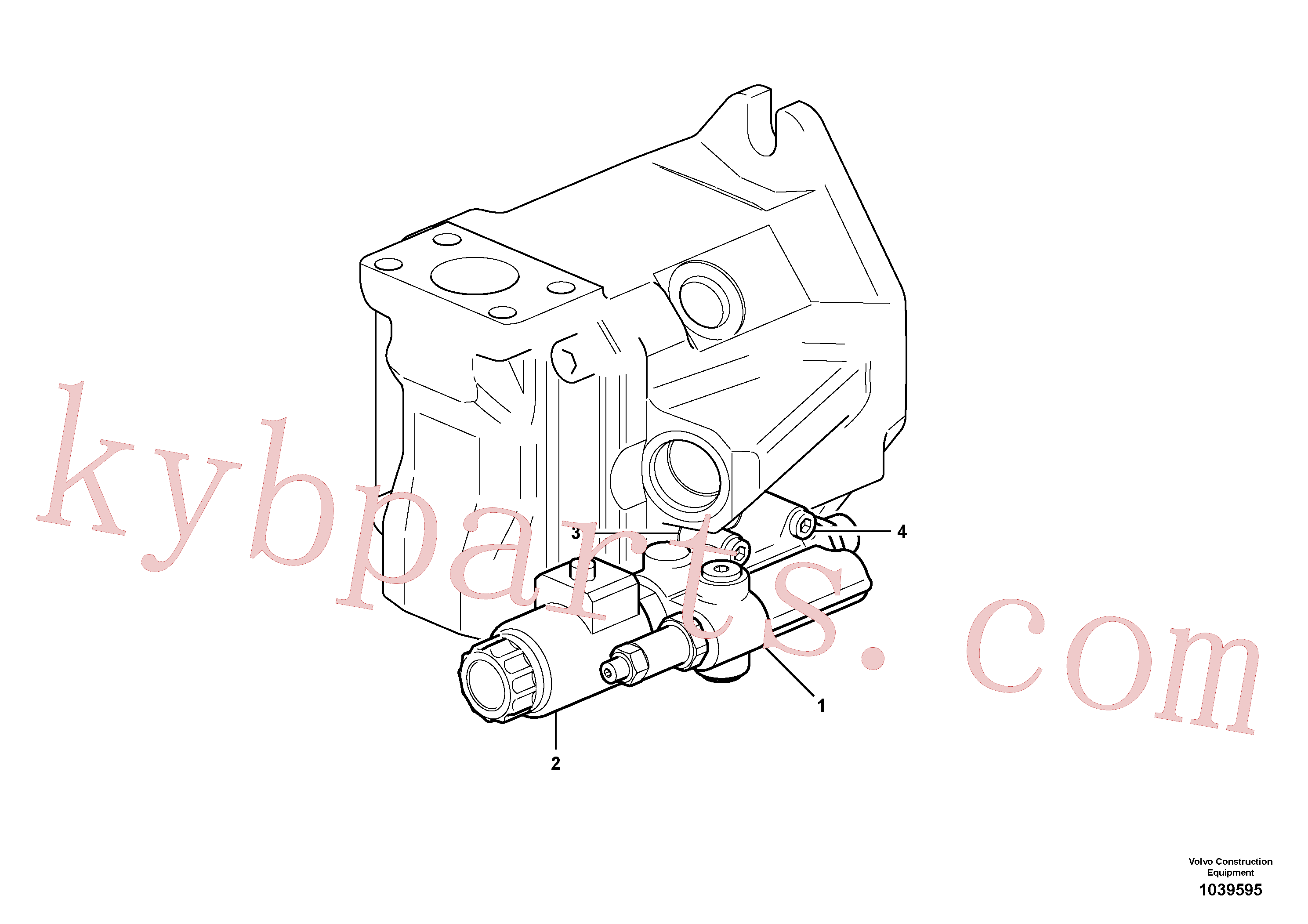 VOE16001028 for Volvo Fan drive hydraulic pump(1039595 assembly)