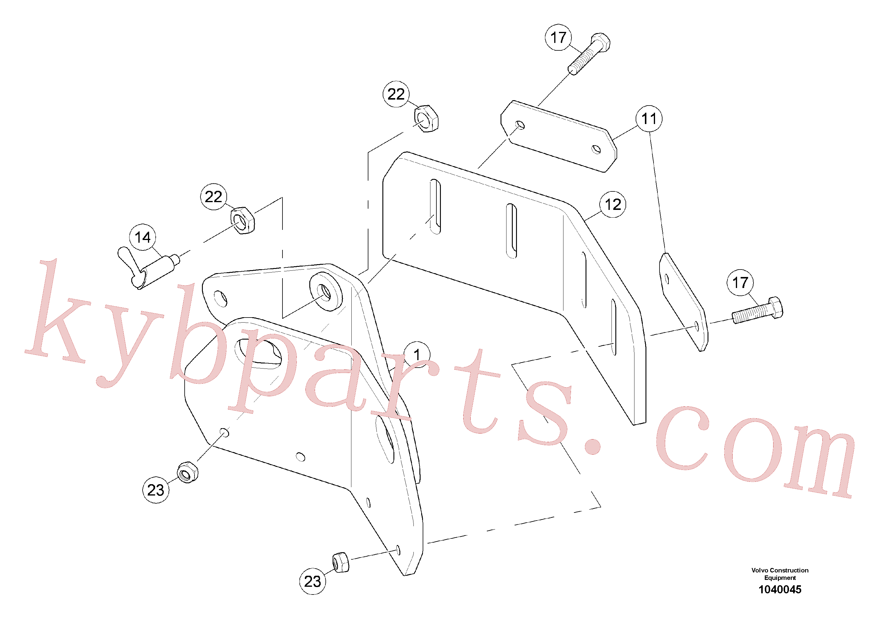 RM96718846 for Volvo Scraper(1040045 assembly)