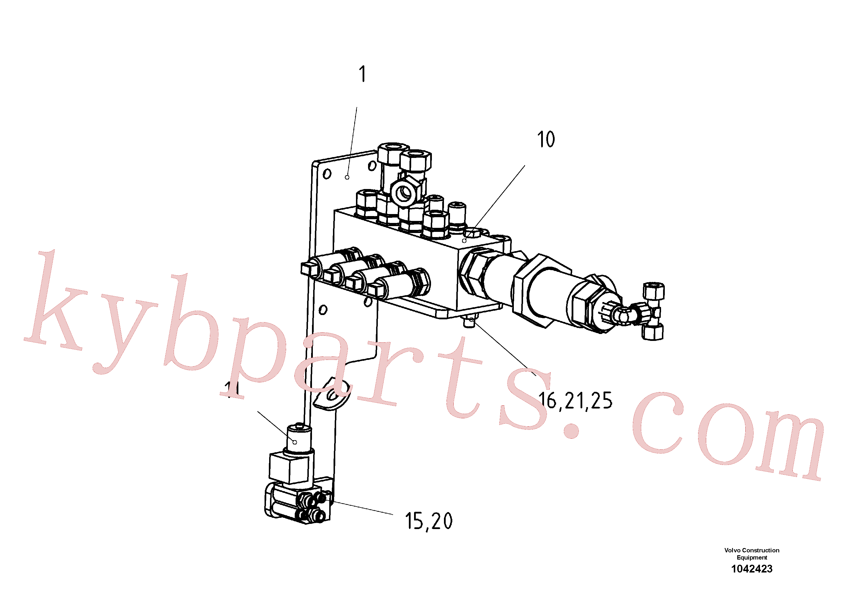 RM96727896 for Volvo Support Valve Block(1042423 assembly)