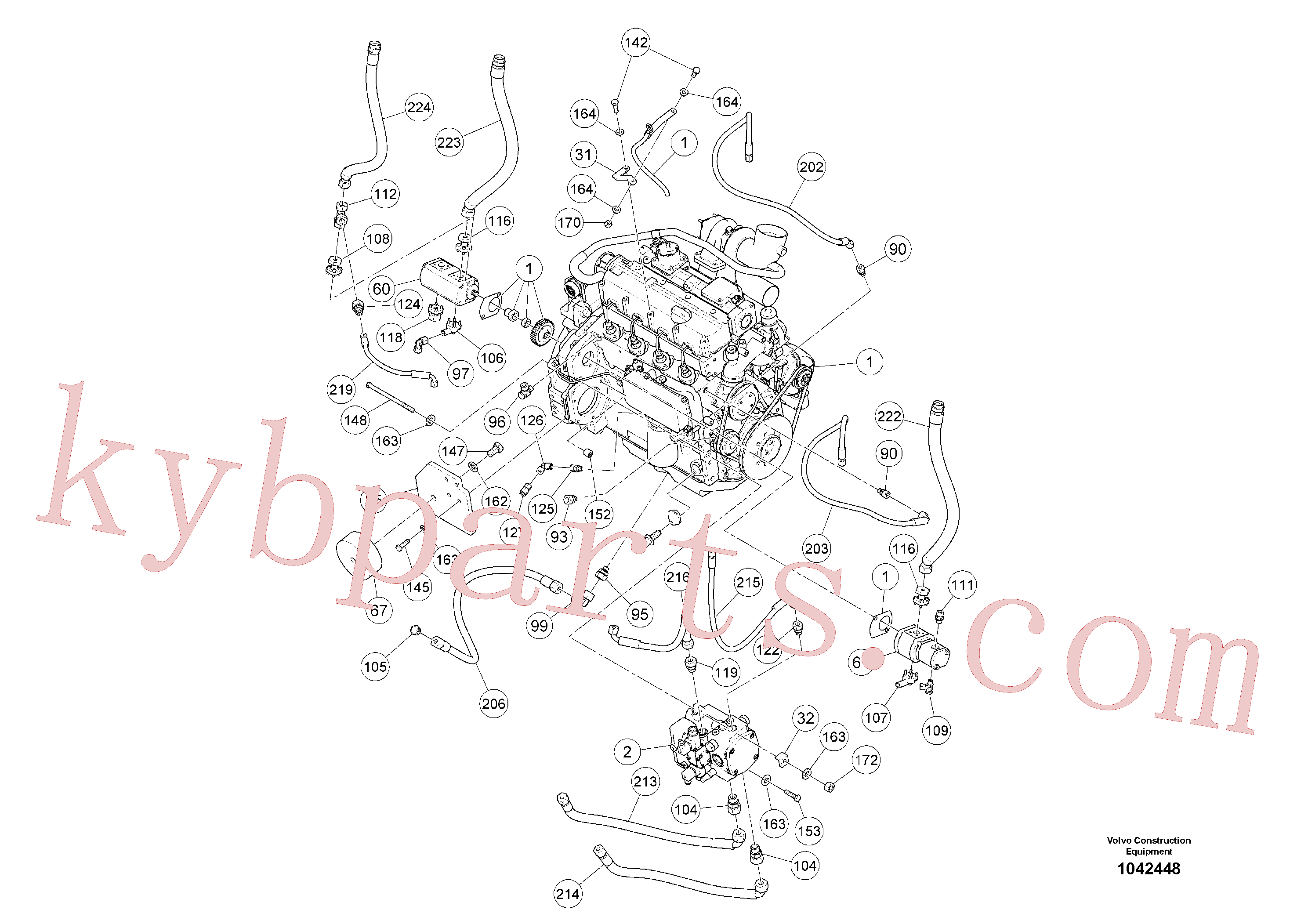 RM96719117 for Volvo Basic Engine(1042448 assembly)