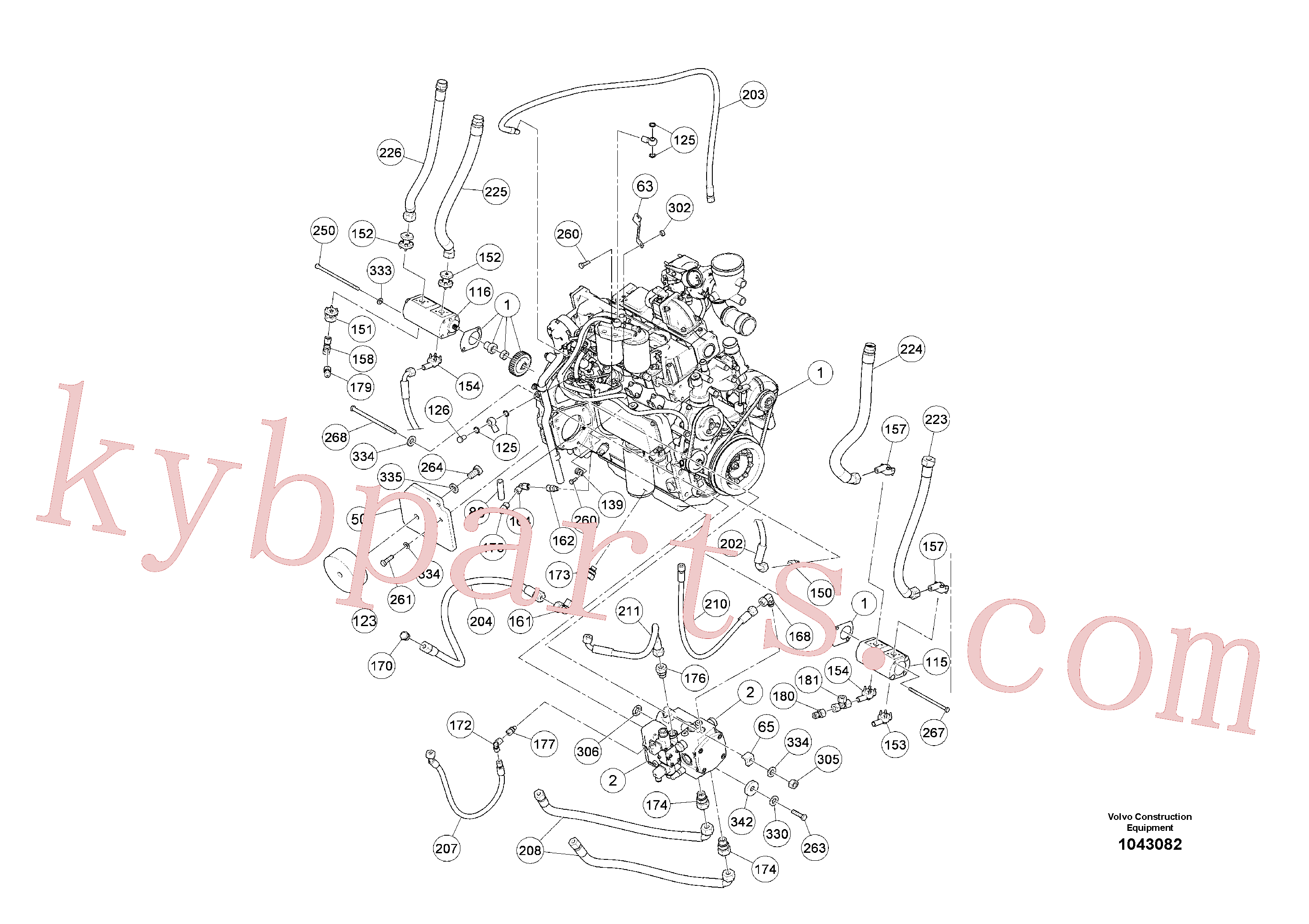 RM96719117 for Volvo Basic Engine(1043082 assembly)