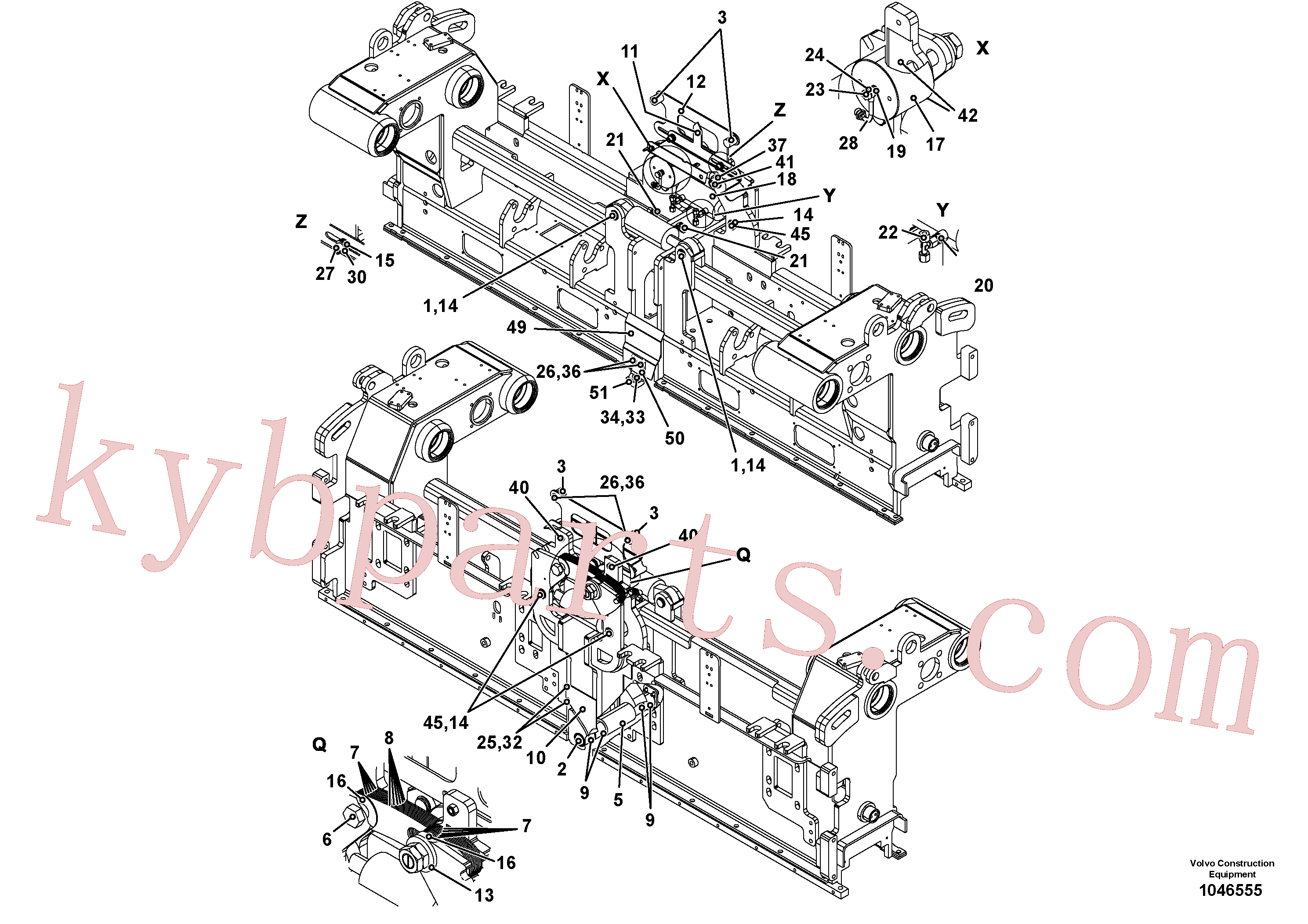 RM96719174 for Volvo Crown control for basic screed, Basic screed and crown control(1046555 assembly)