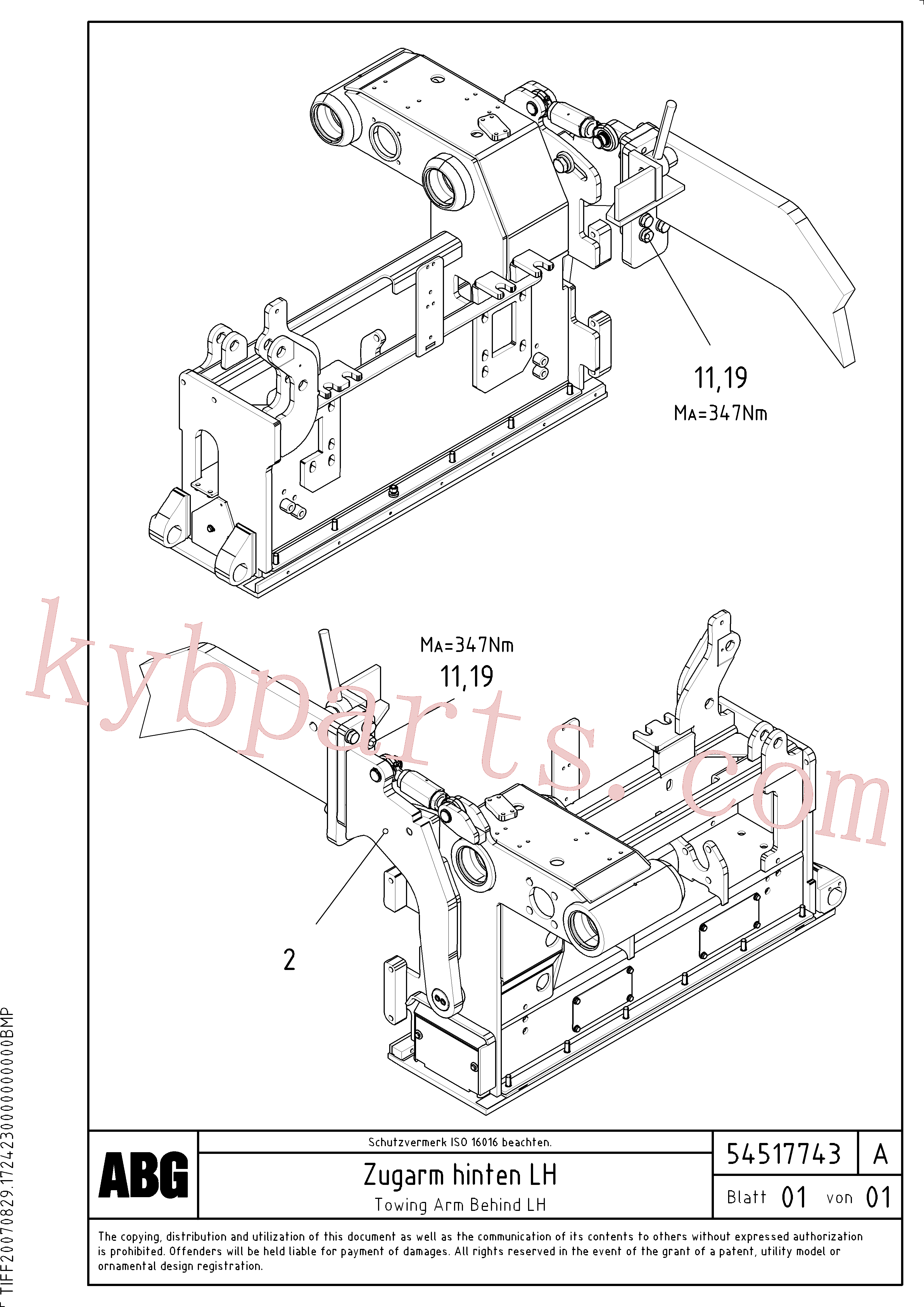 RM96722442 for Volvo Towing arm behind(1046671 assembly)