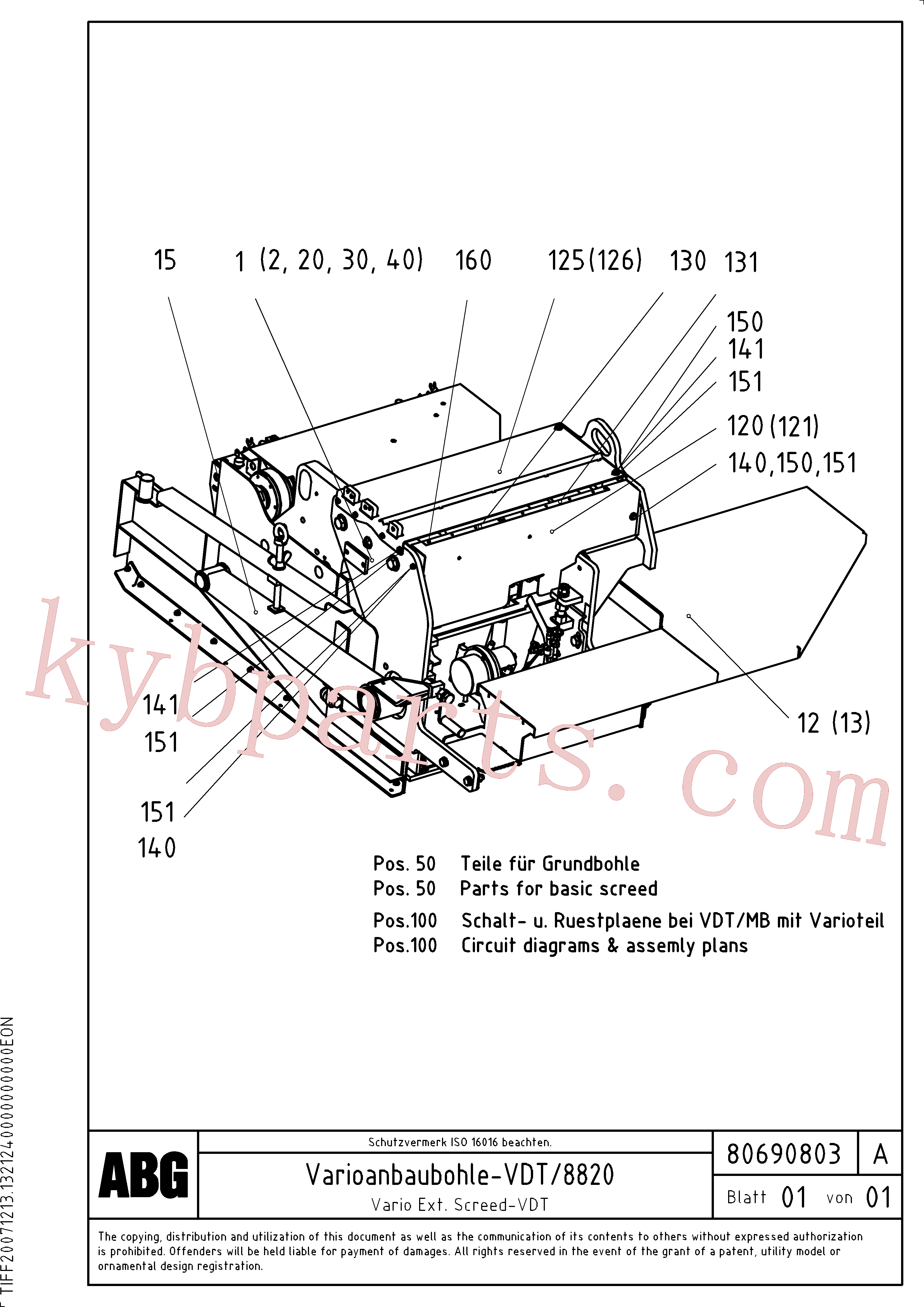 RM80717499 for Volvo Vario extended screed(1047104 assembly)