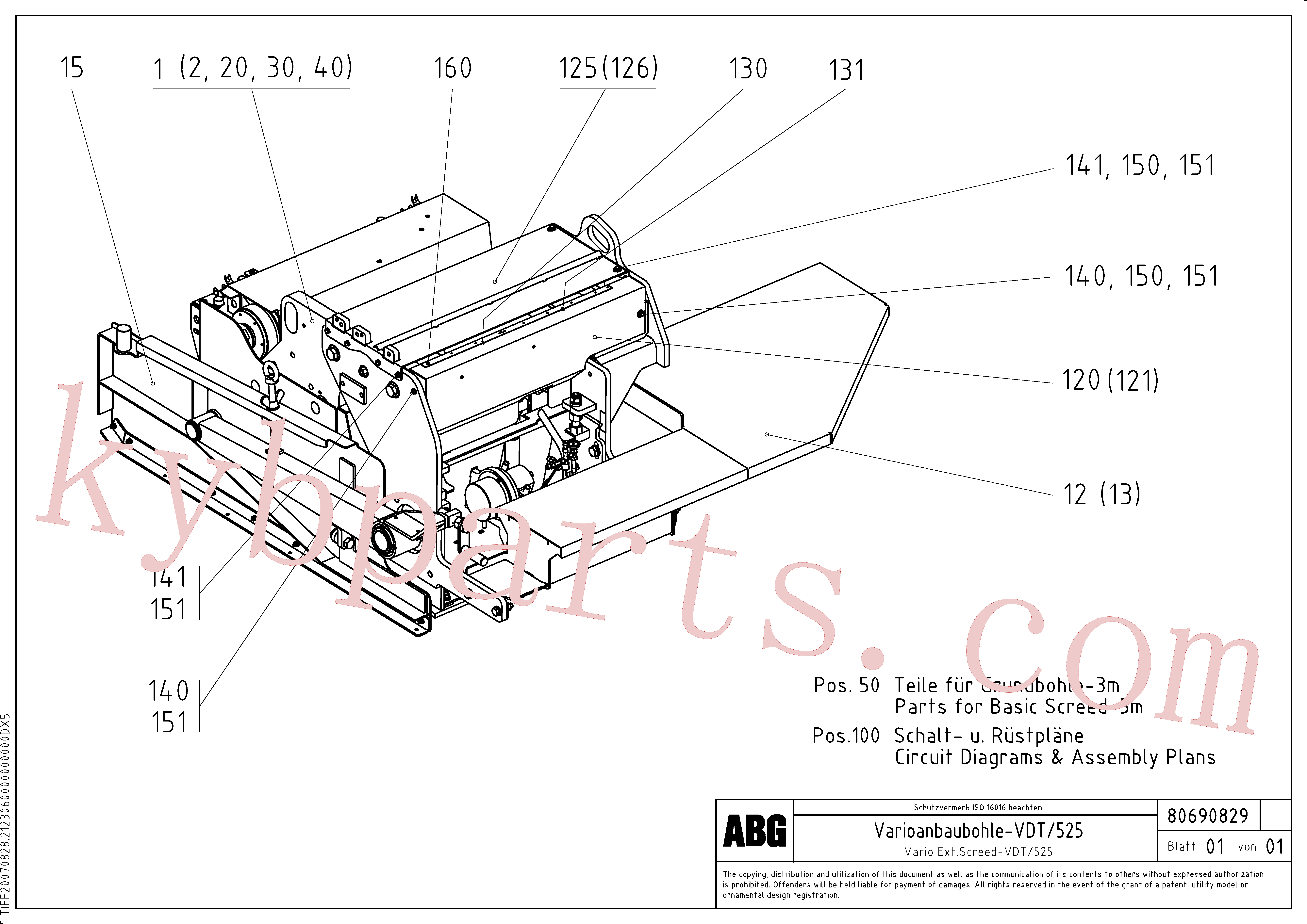 RM80717499 for Volvo Extendable screed(1047106 assembly)