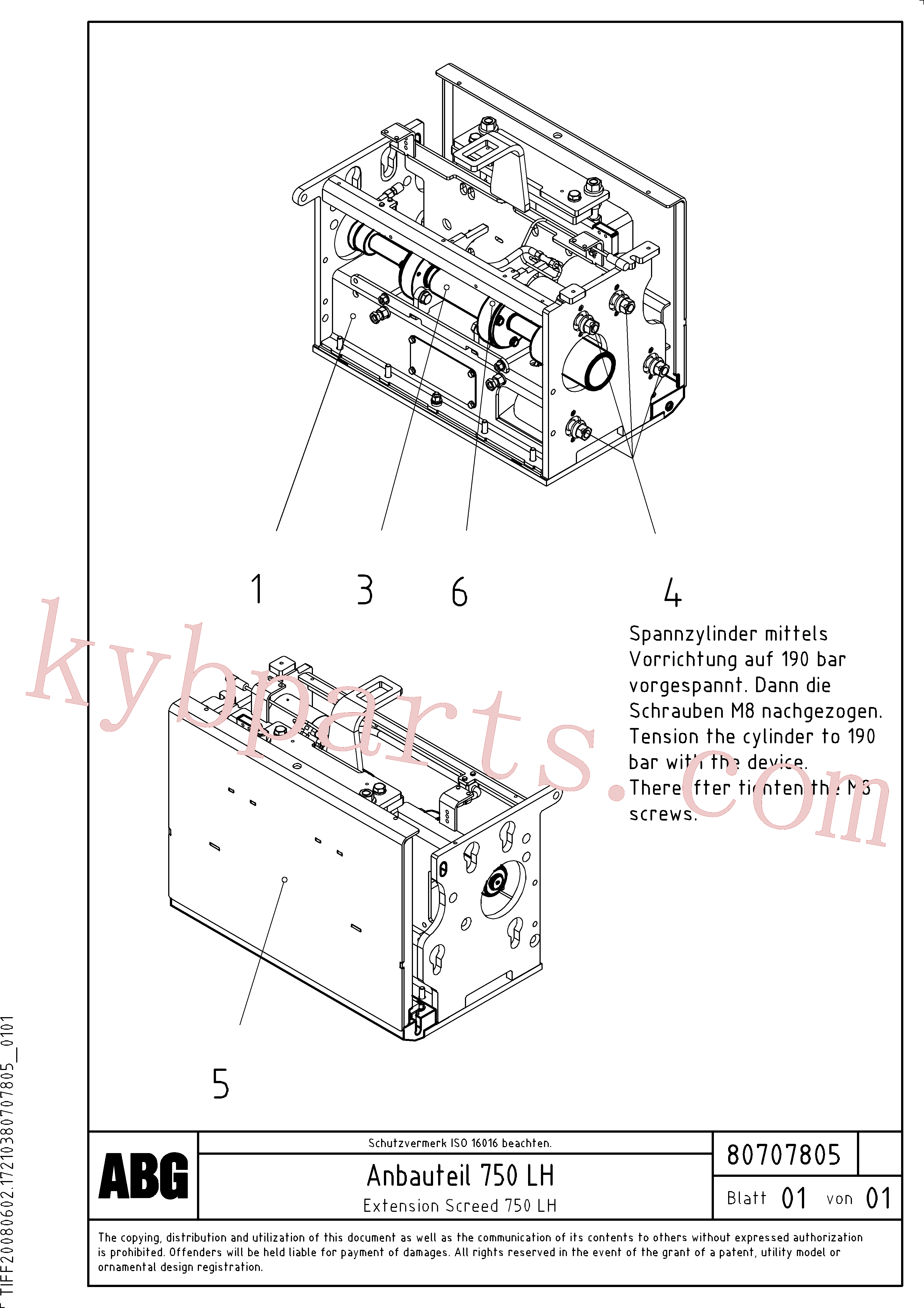 RM80707698 for Volvo Extension screed(1047308 assembly)
