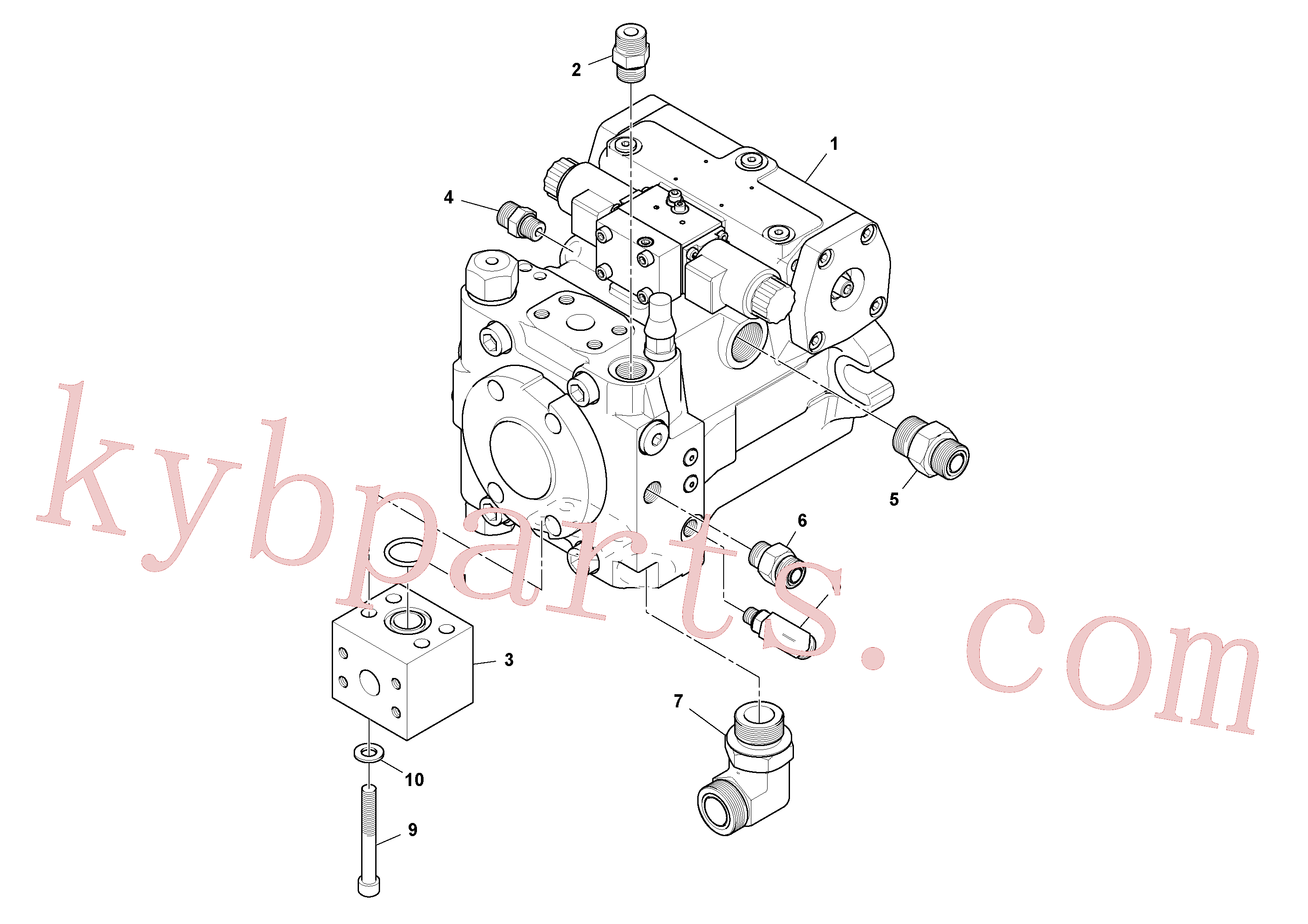 RM43914217 for Volvo Propulsion Pump Assembly(1048406 assembly)