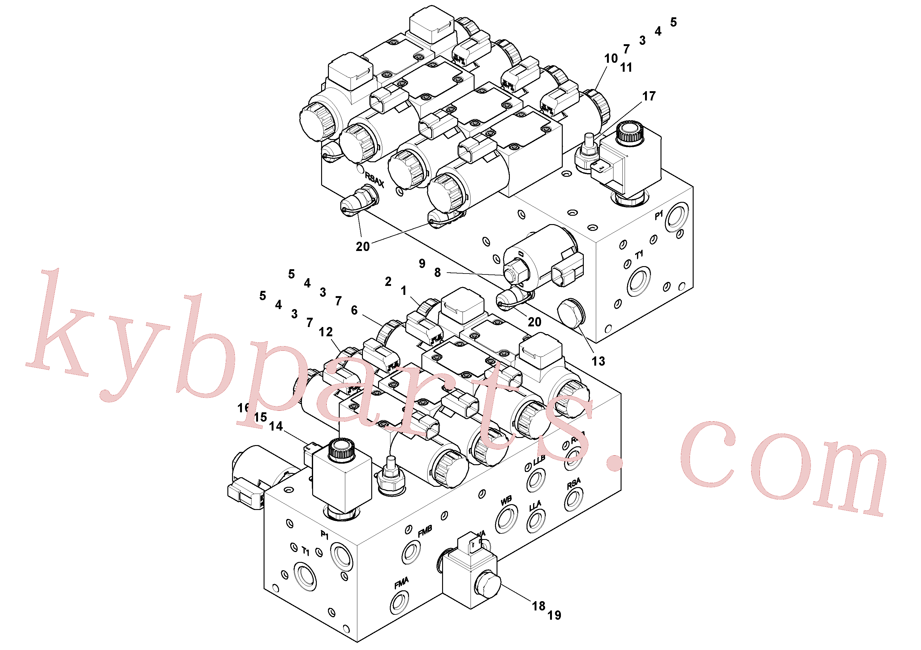 VOE11708162 for Volvo Manifold(1048566 assembly)