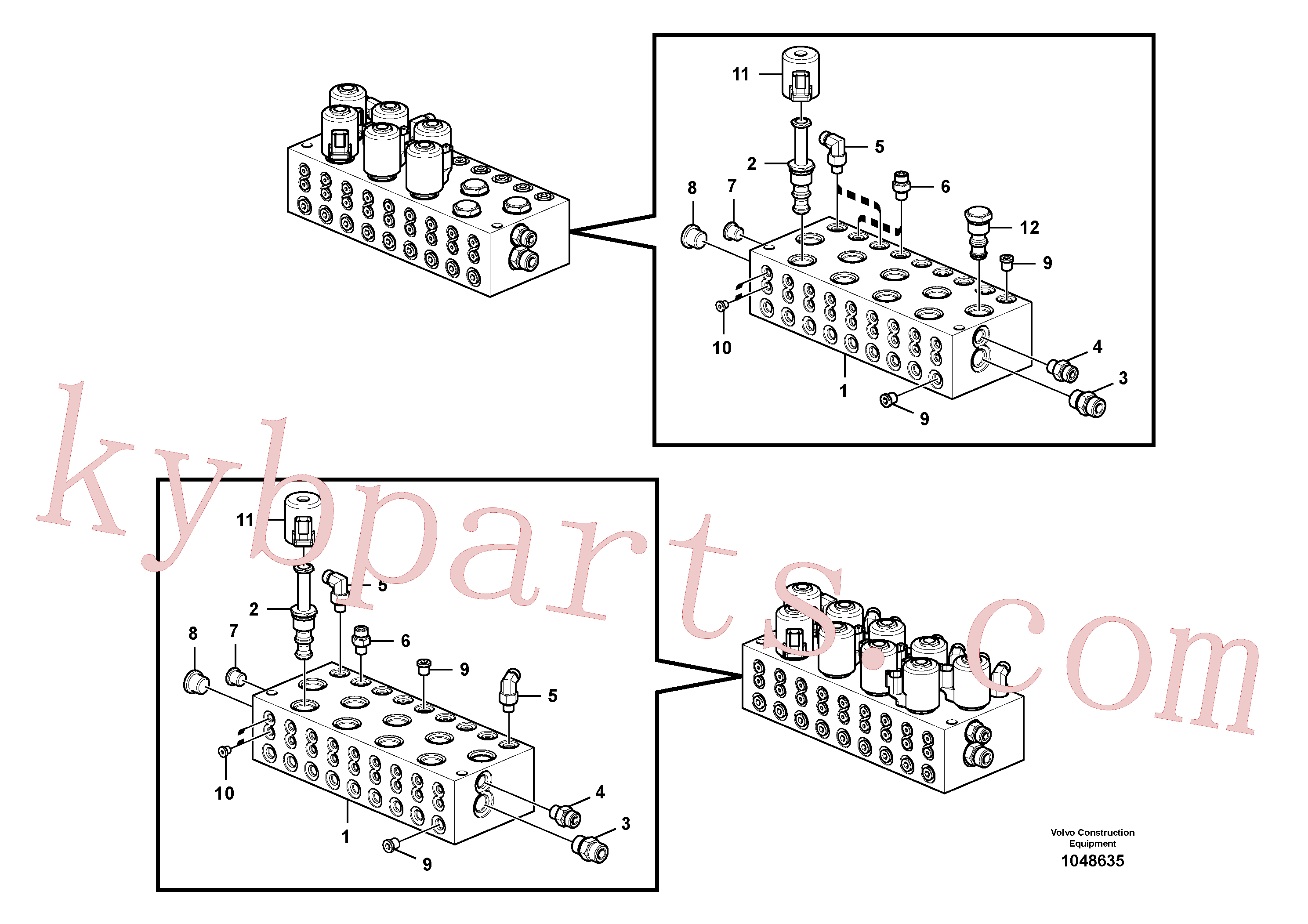 RM59922807 for Volvo Main control valve(1048635 assembly)