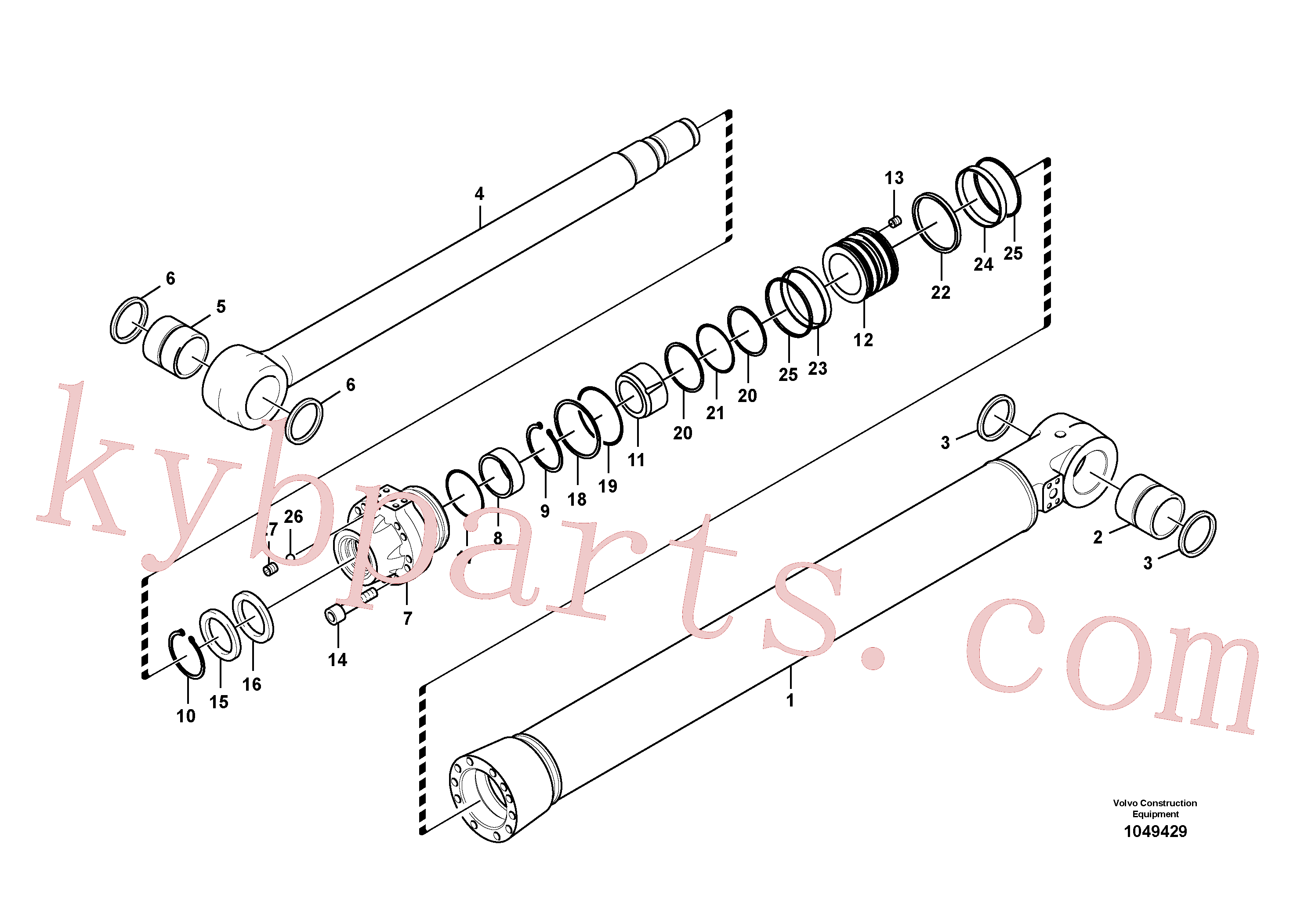 SA9511-12105 for Volvo Bucket cylinder, Boom cylinder(1049429 assembly)