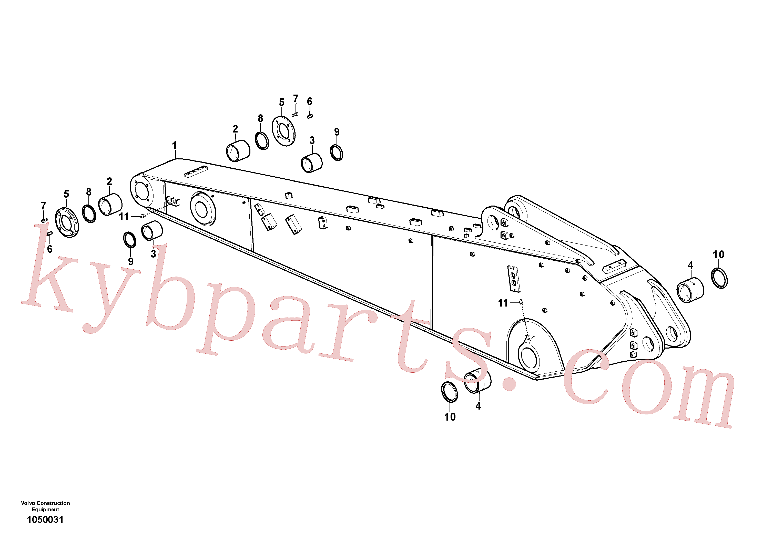 VOE14512698 for Volvo Dipper arm and grease piping with piping seat(1050031 assembly)