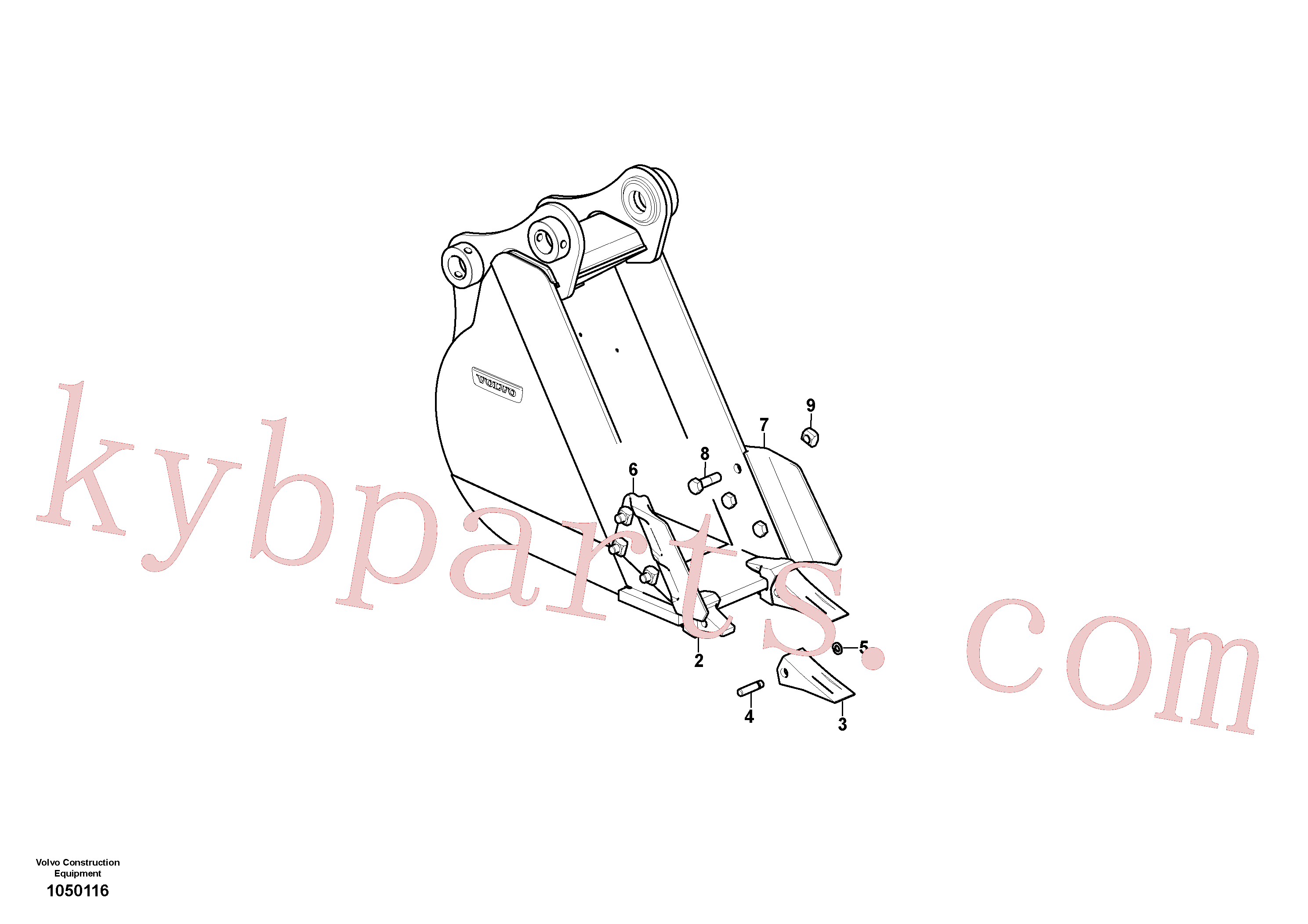 VOE14527865 for Volvo Bucket(1050116 assembly)