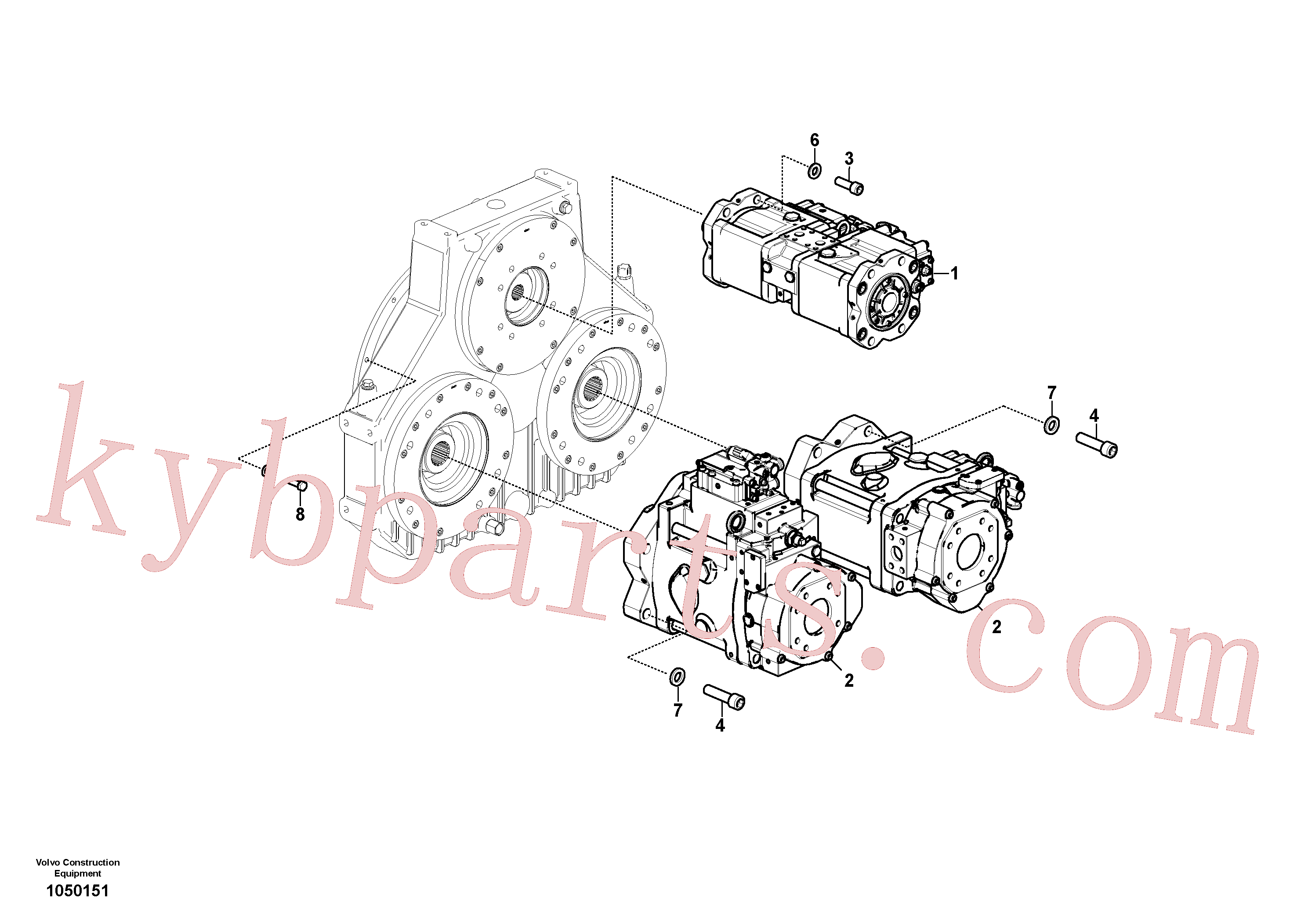 VOE17438657 for Volvo Pump installation(1050151 assembly)