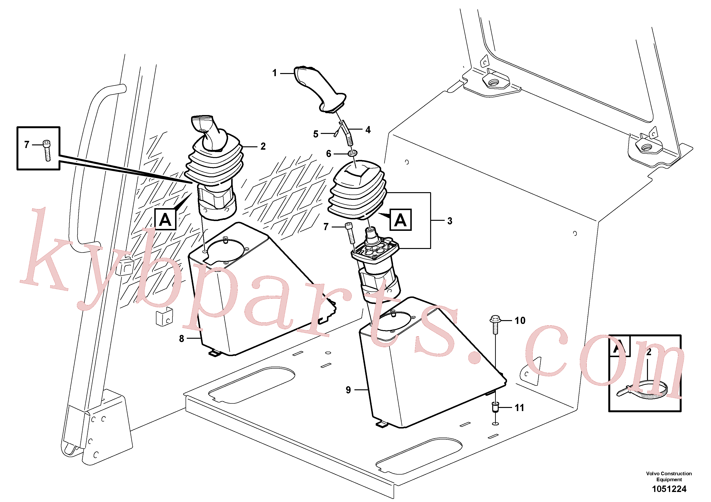 VOE15099103 for Volvo Optional hand controls(1051224 assembly)