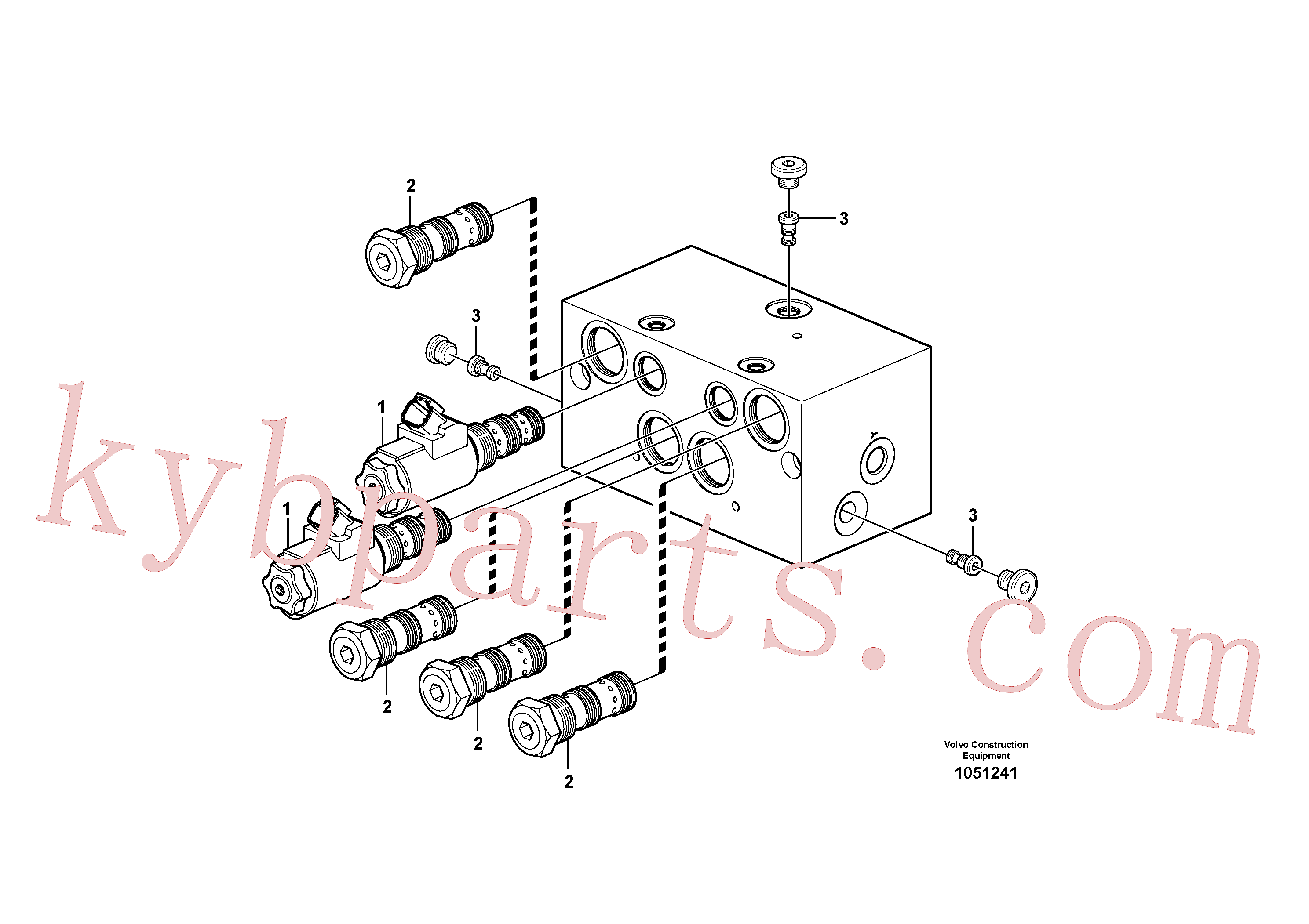 VOE11711993 for Volvo Valve(1051241 assembly)