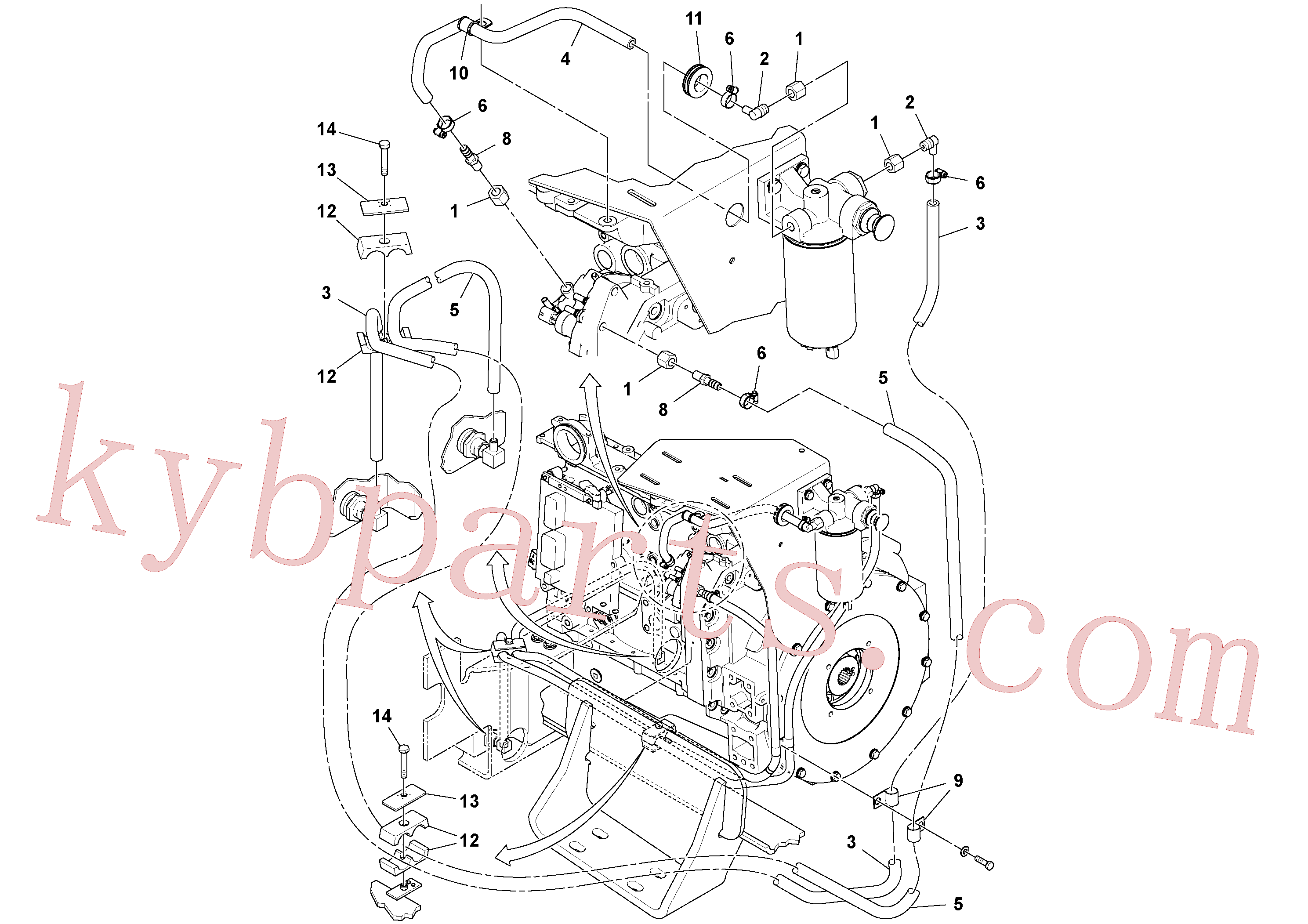RM59117333 for Volvo Fuel Line Installation(1051288 assembly)
