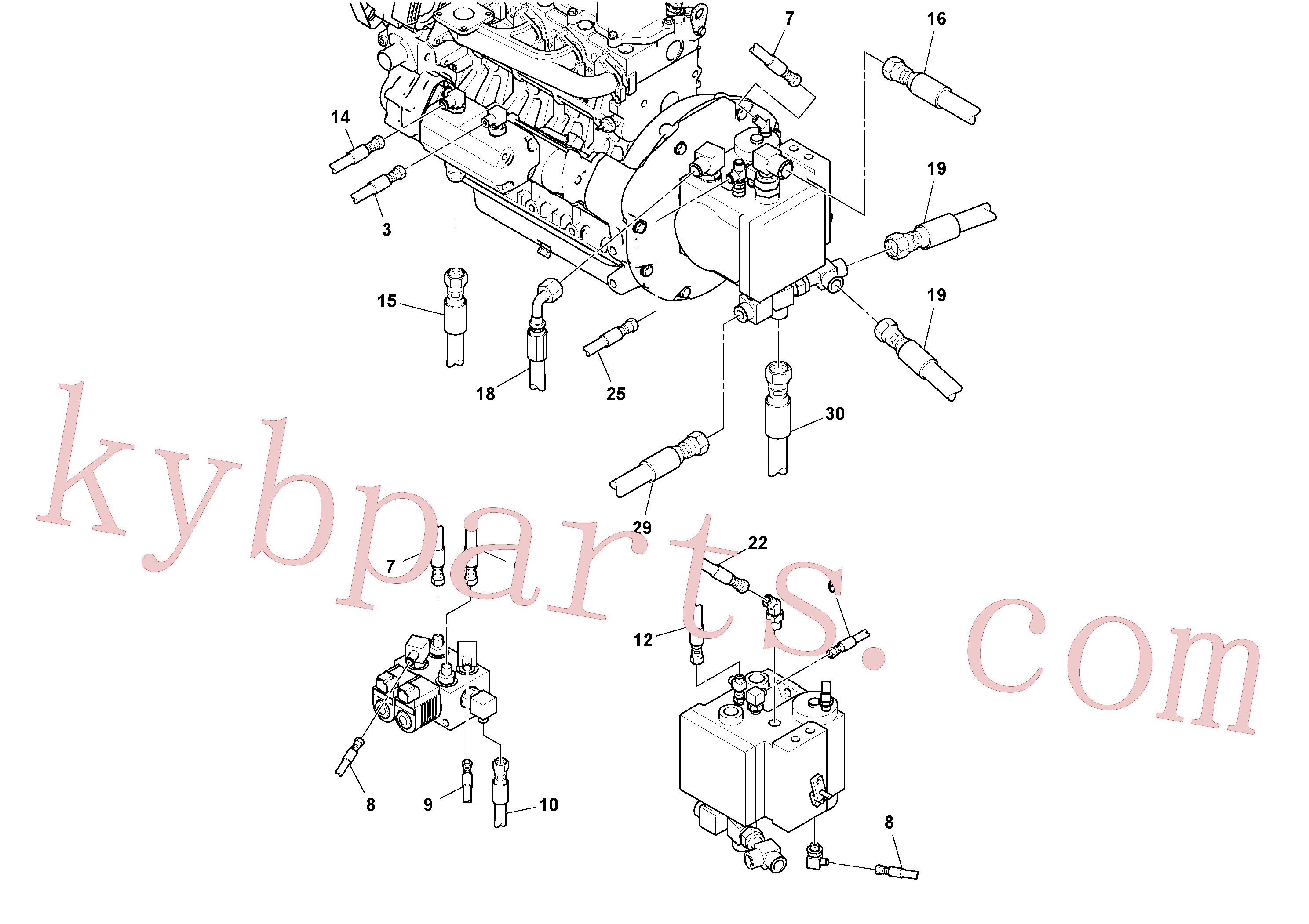 RM59328443 for Volvo Rear Frame Hoses Installation(1051405 assembly)