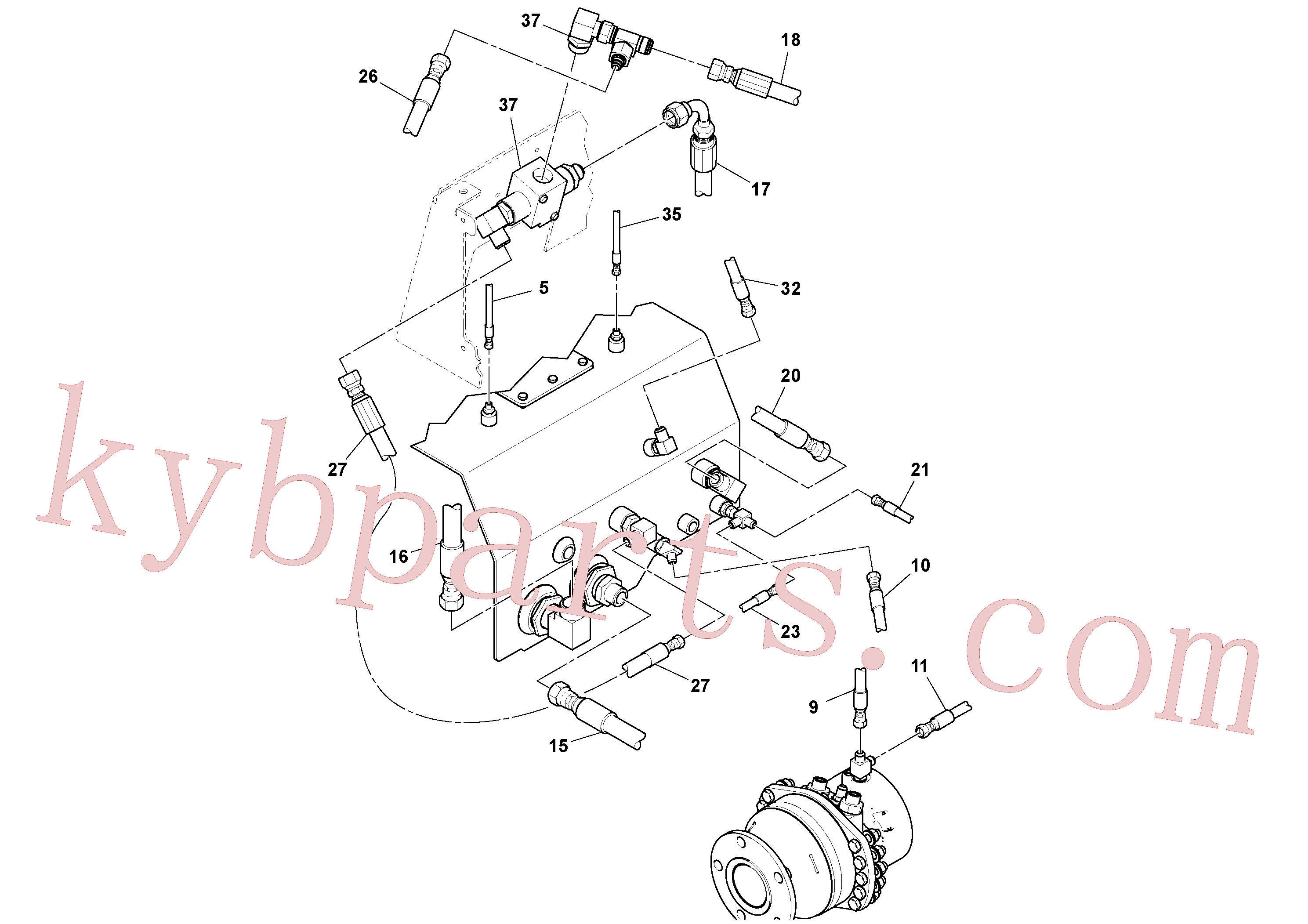 RM59328443 for Volvo Rear Frame Hoses Installation(1051406 assembly)