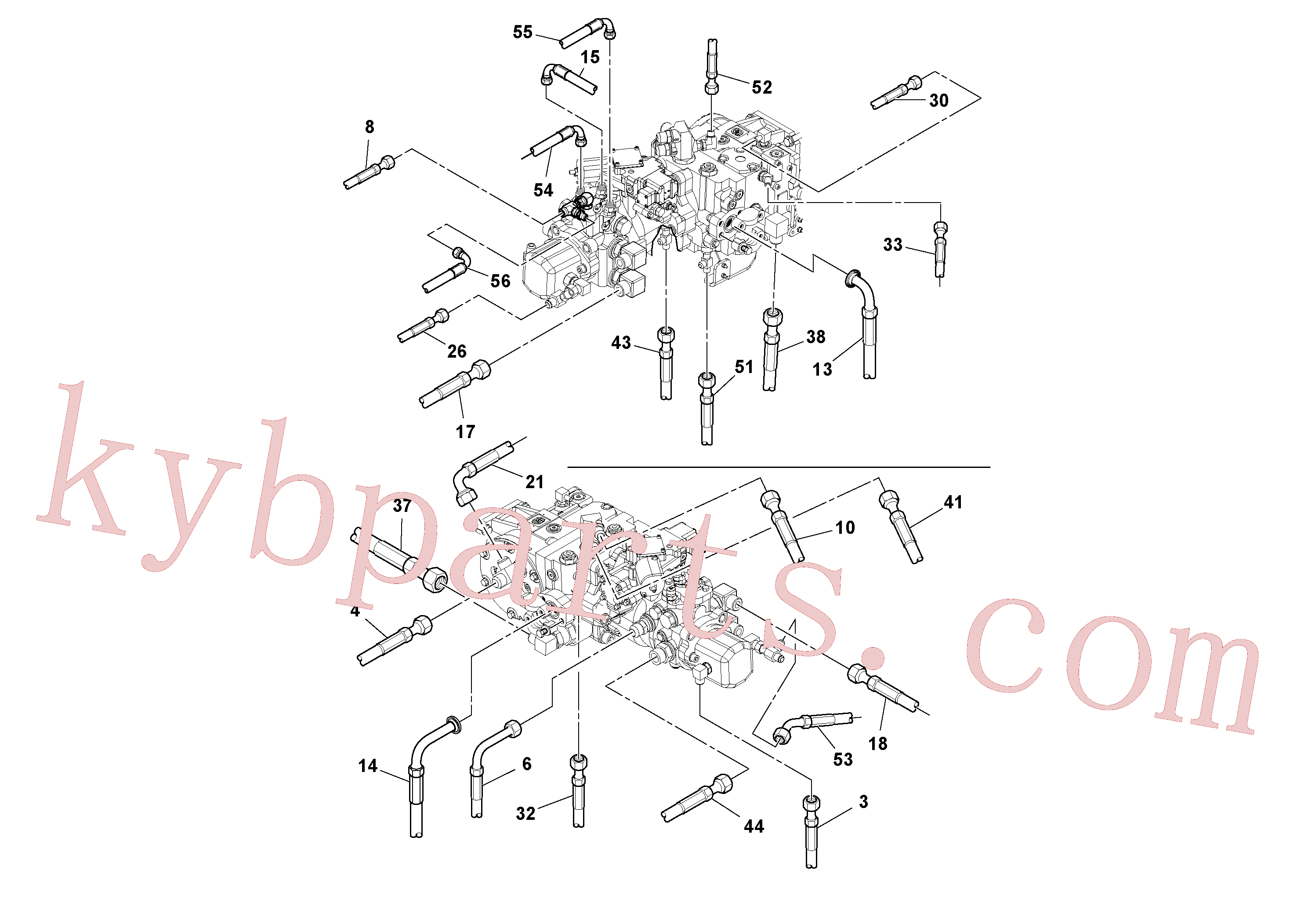 RM59706960 for Volvo Rear Frame Hoses Installation(1051518 assembly)