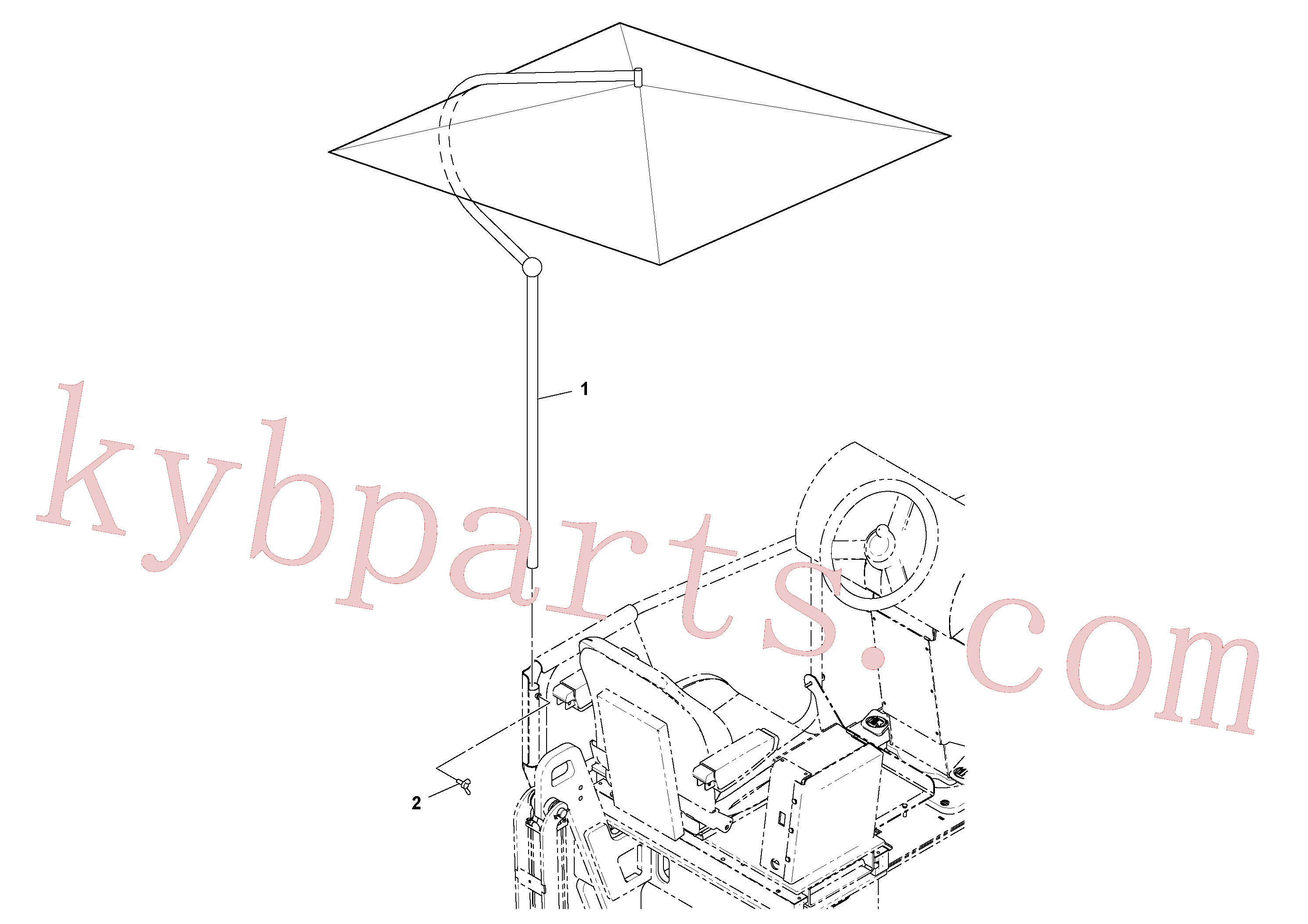 RM59136226 for Volvo Operator's Umbrella Installation(1052109 assembly)
