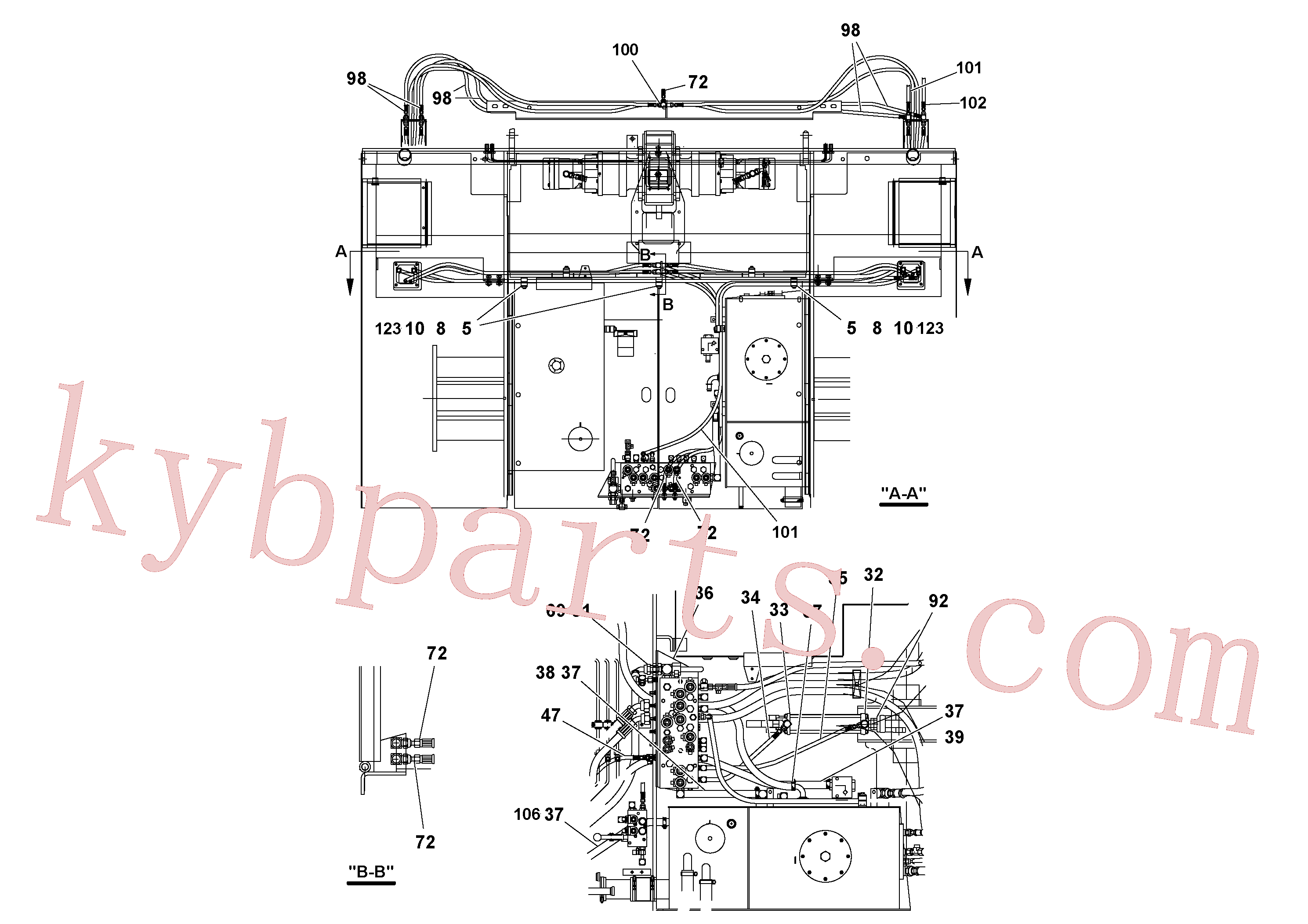 RM59922211 for Volvo Hydraulic installation(1052142 assembly)