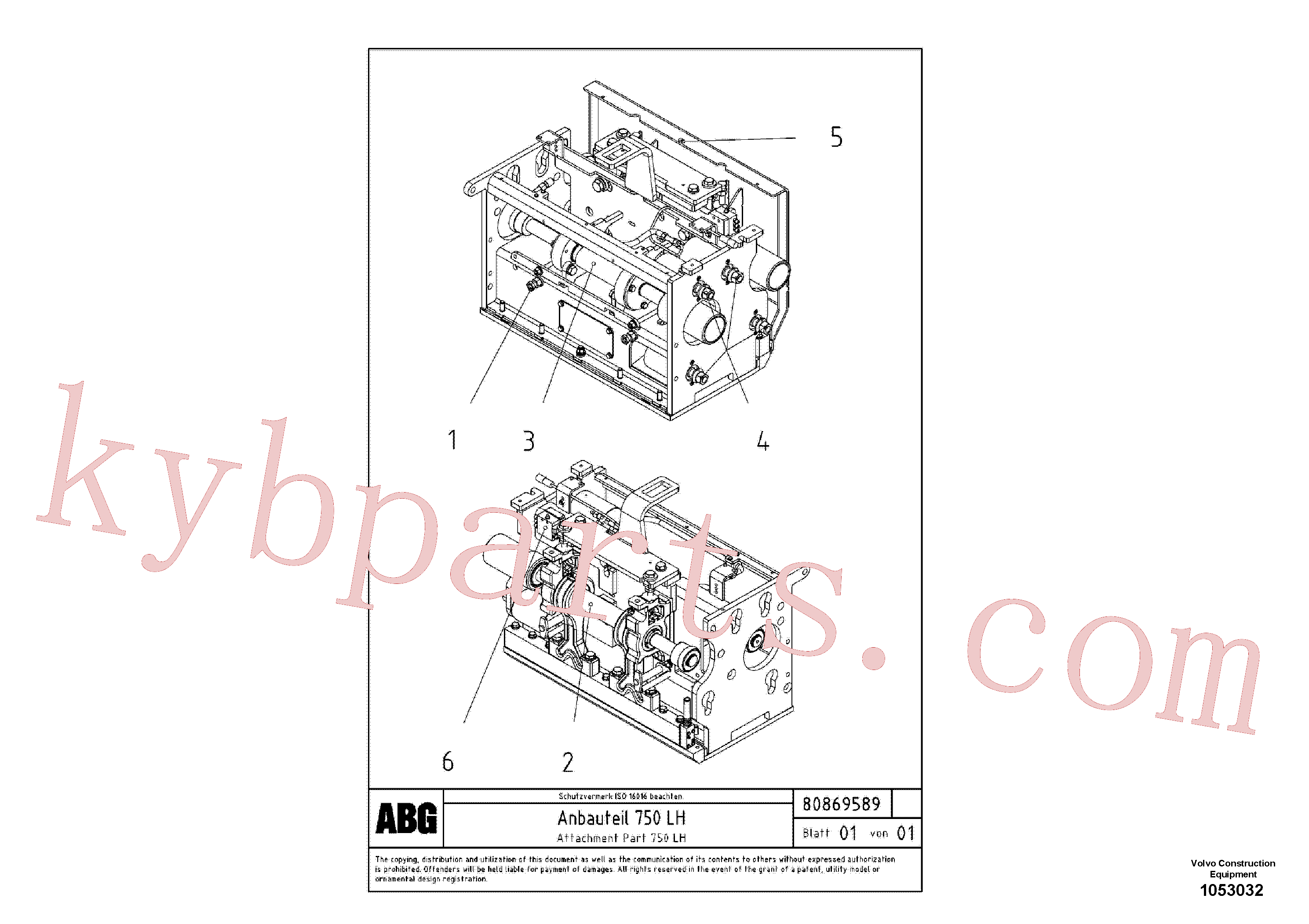 RM80707698 for Volvo Attachment part for extension(1053032 assembly)