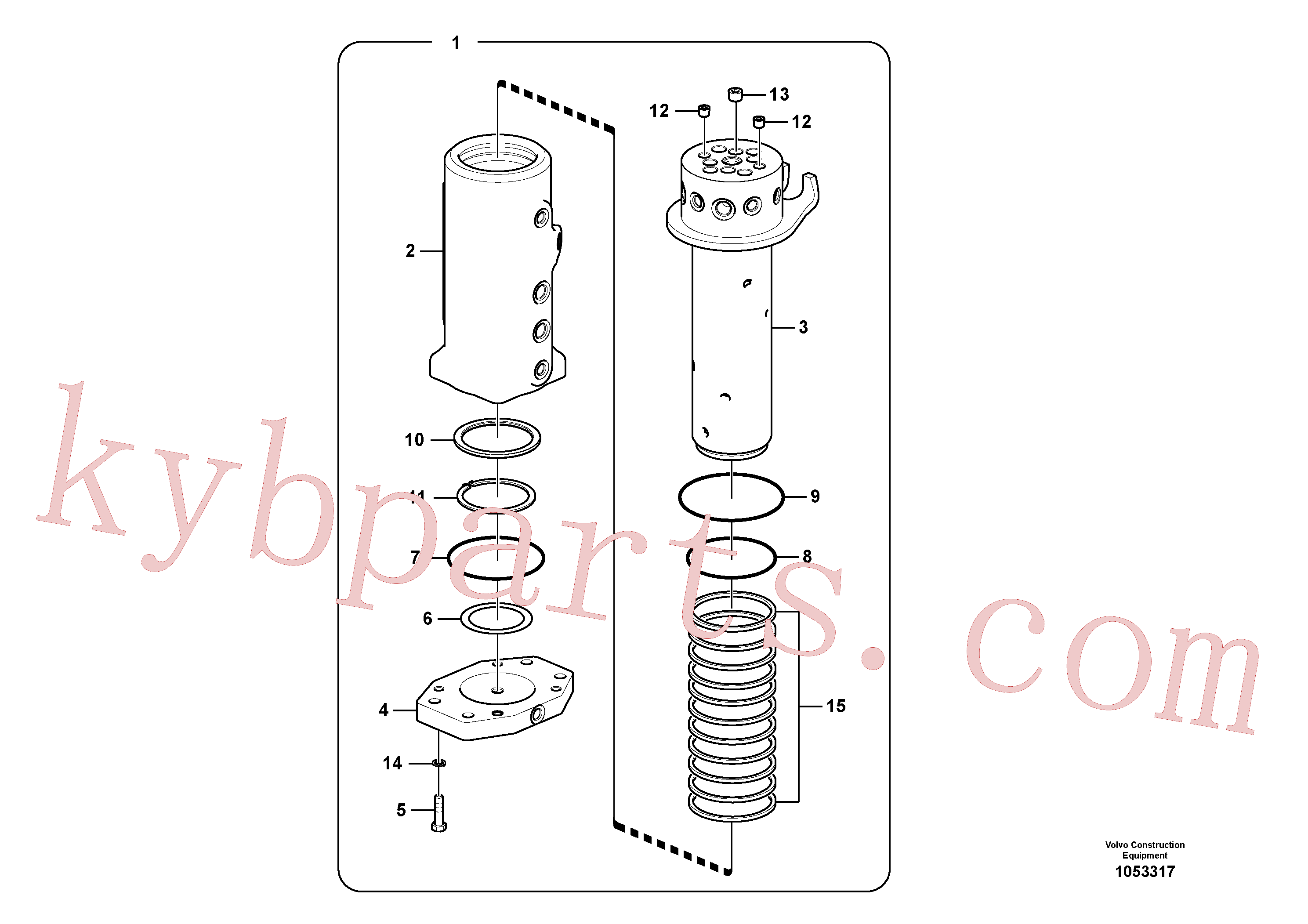 SA9511-12080 for Volvo Turning joint(1053317 assembly)
