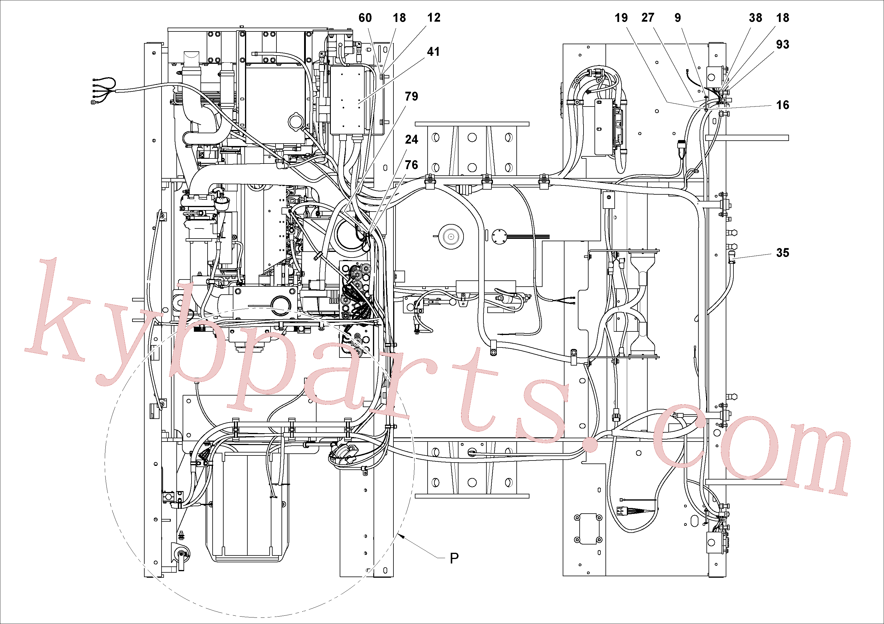 RM95971552 for Volvo Electrical Arrangement(1053494 assembly)