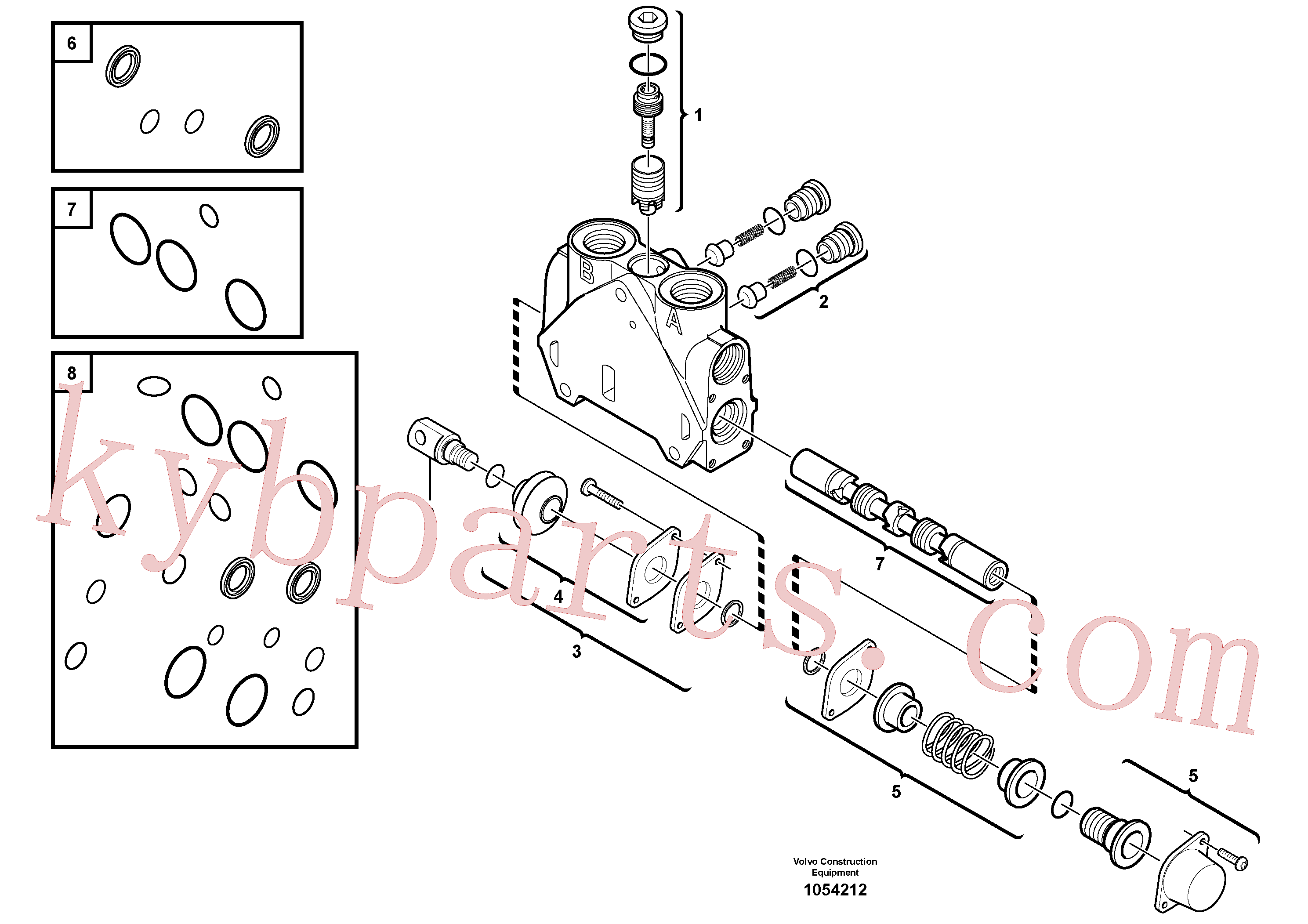 VOE11712580 for Volvo Valve section(1054212 assembly)