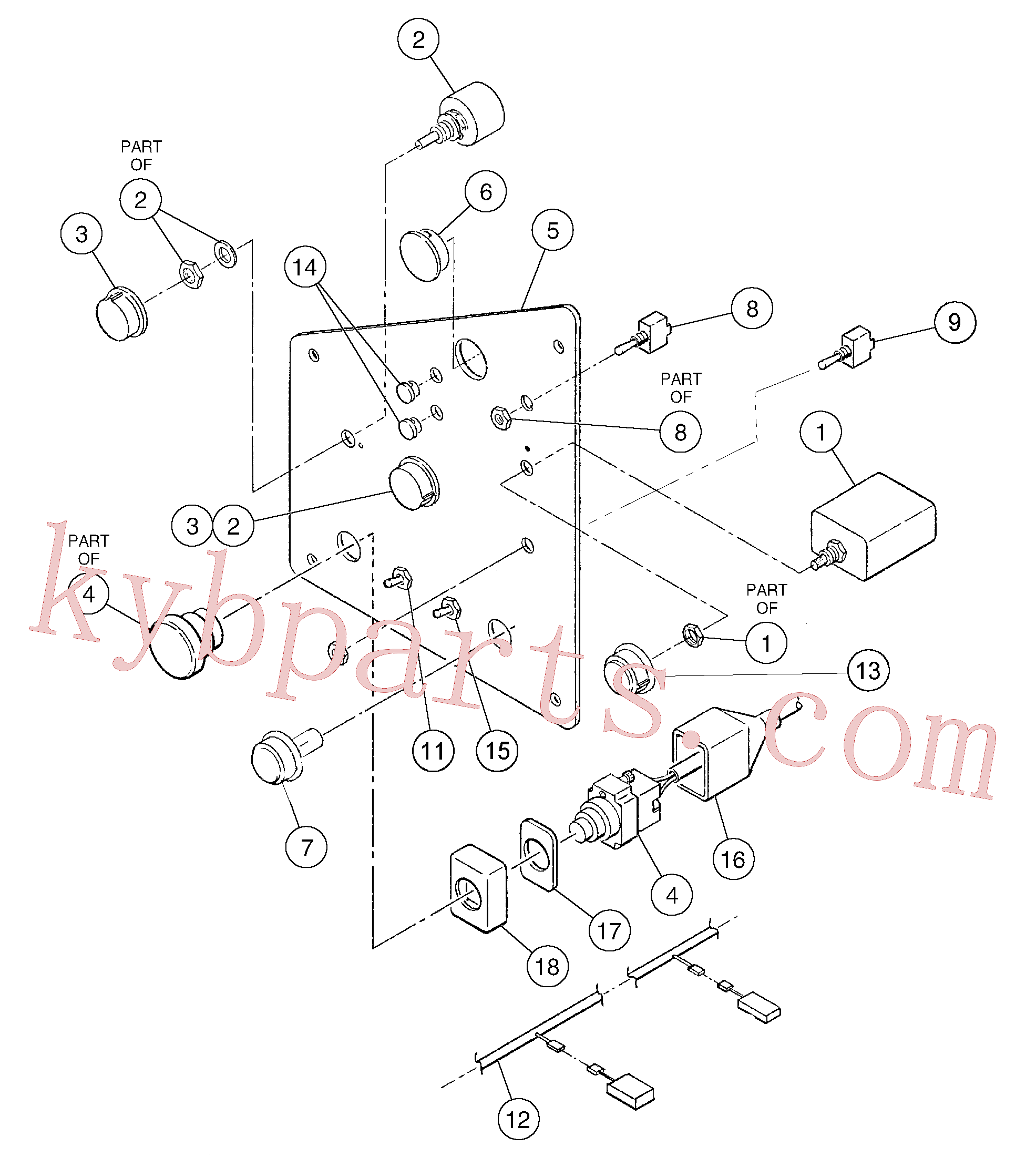 RM43910579 for Volvo Switch panel(1055873 assembly)