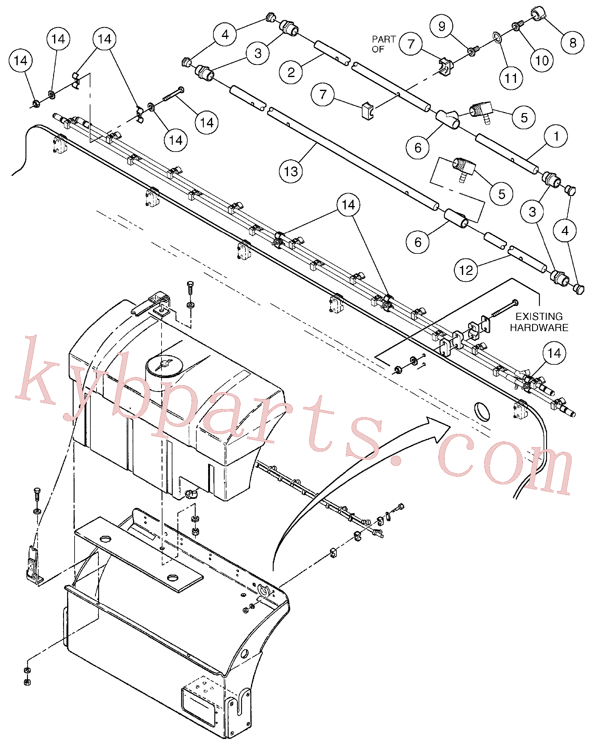 RM96719729 for Volvo Spray Bar Assembly(1055904 assembly)