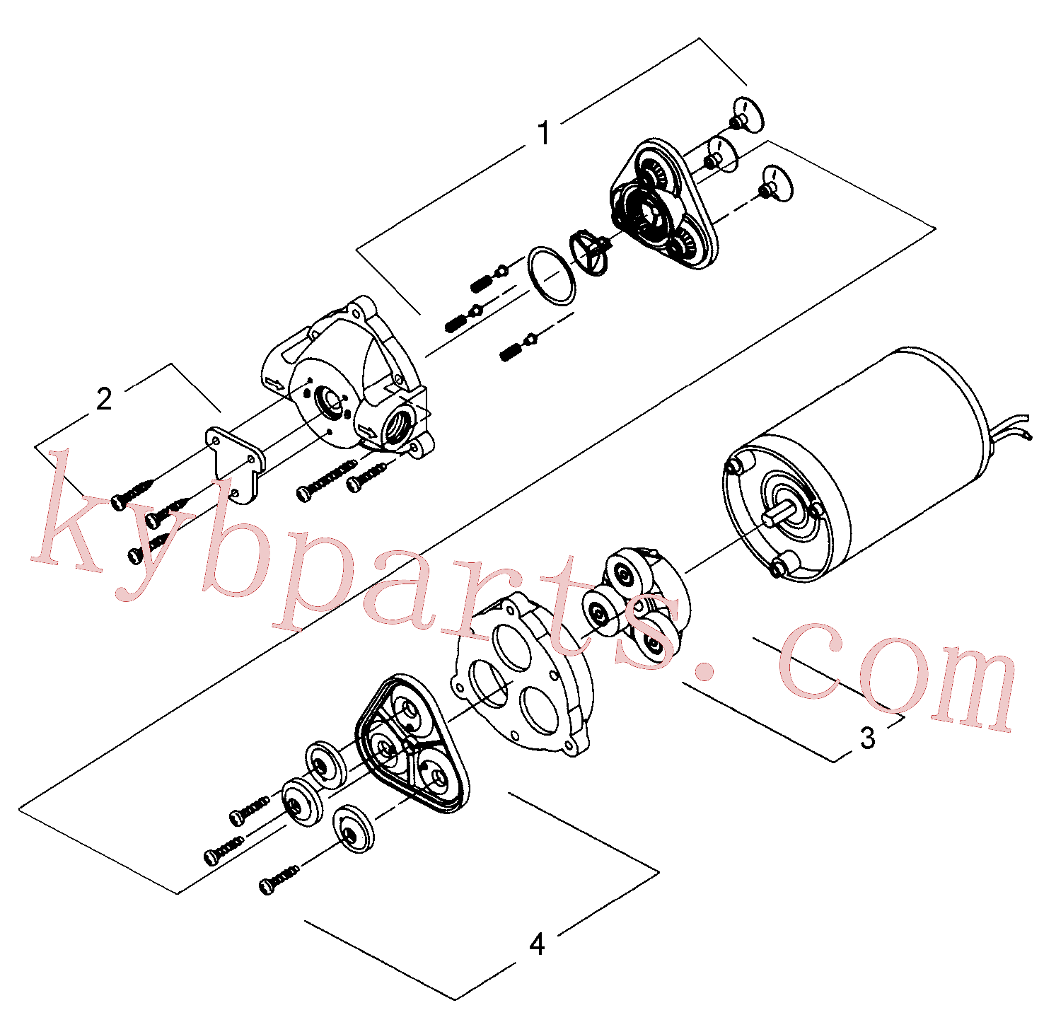 RM59123836 for Volvo Water pump(1055937 assembly)