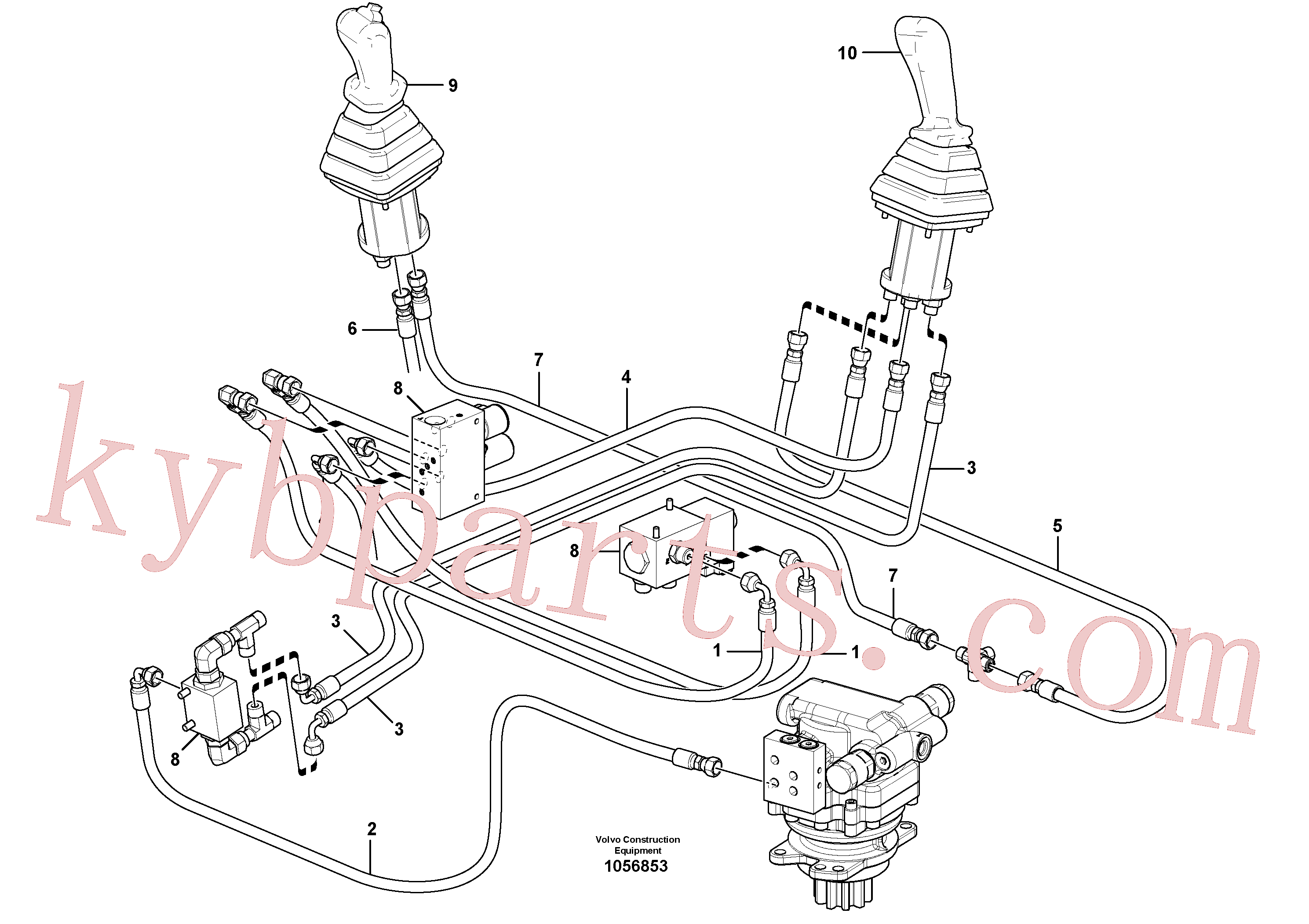 VOE937698 for Volvo Hydraulic circuit ( low pressure )(1056853 assembly)